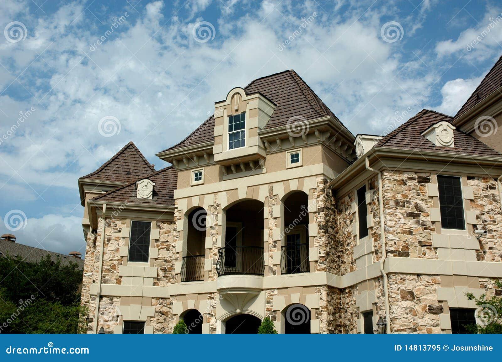 Luxury Stone House Royalty Free Stock Photo Image 14813795