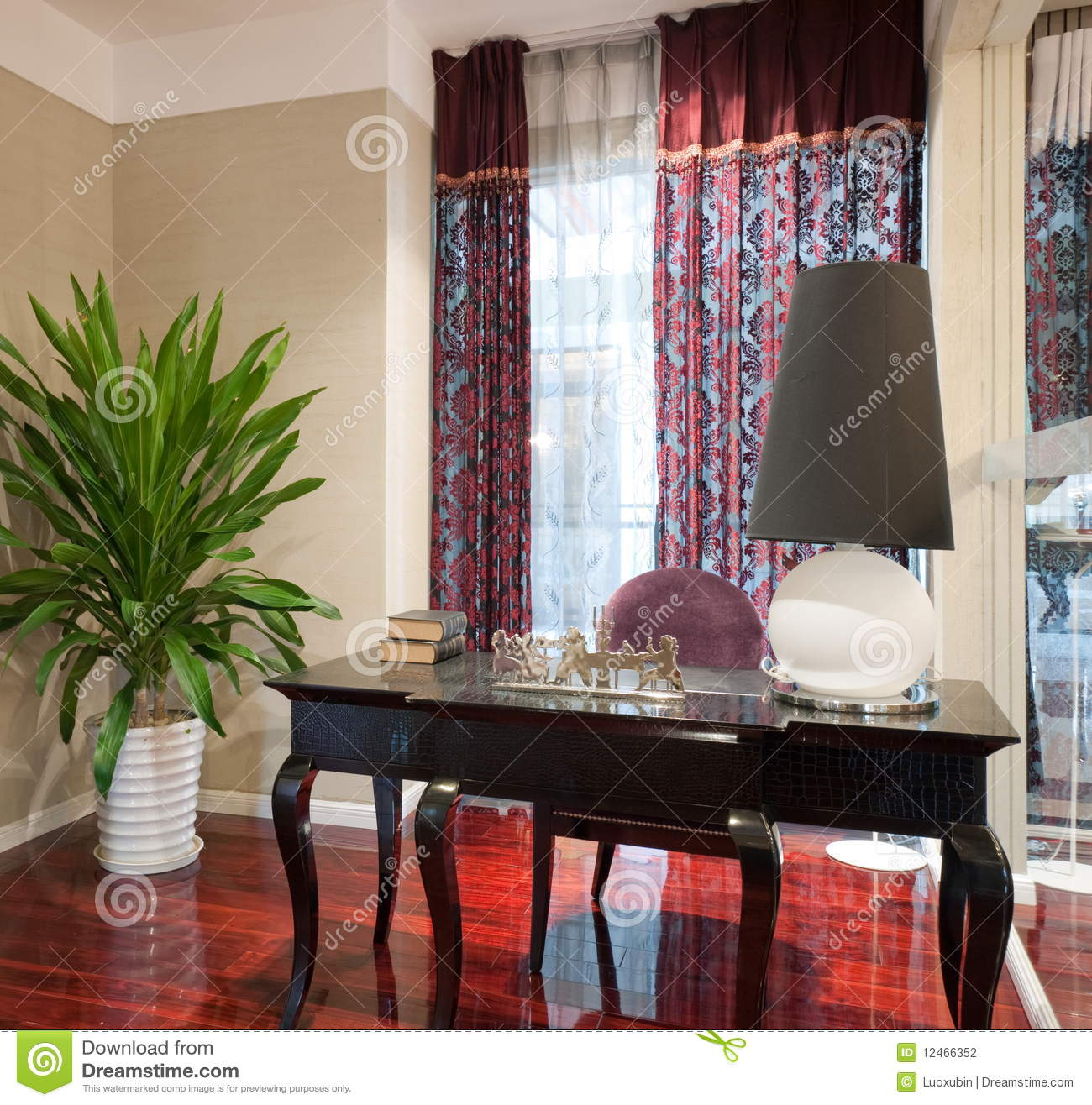 Luxury Study Room Stock Photo Image Of Apartment