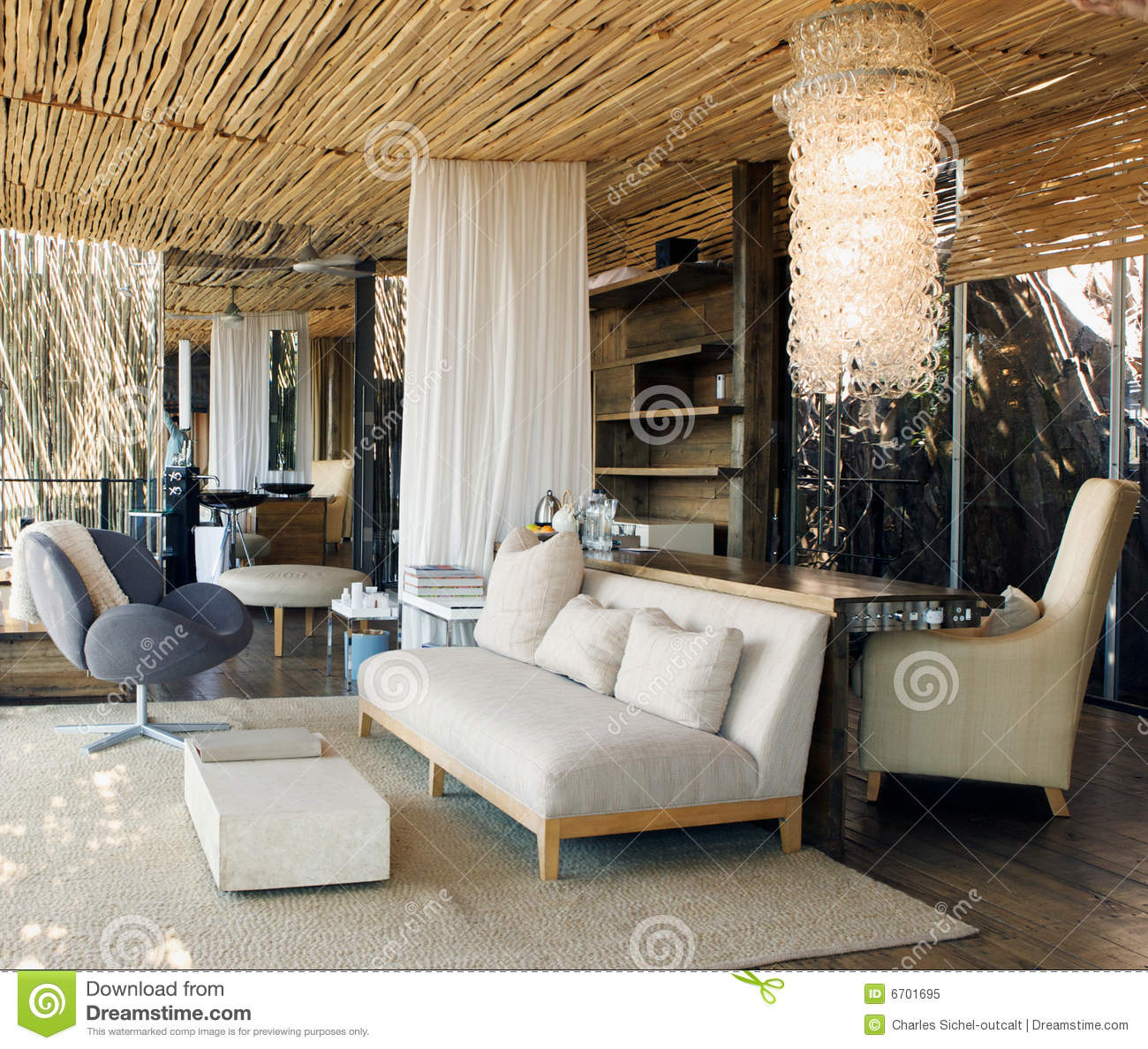 Luxury Suite In African Lodge Royalty Free Stock Photo