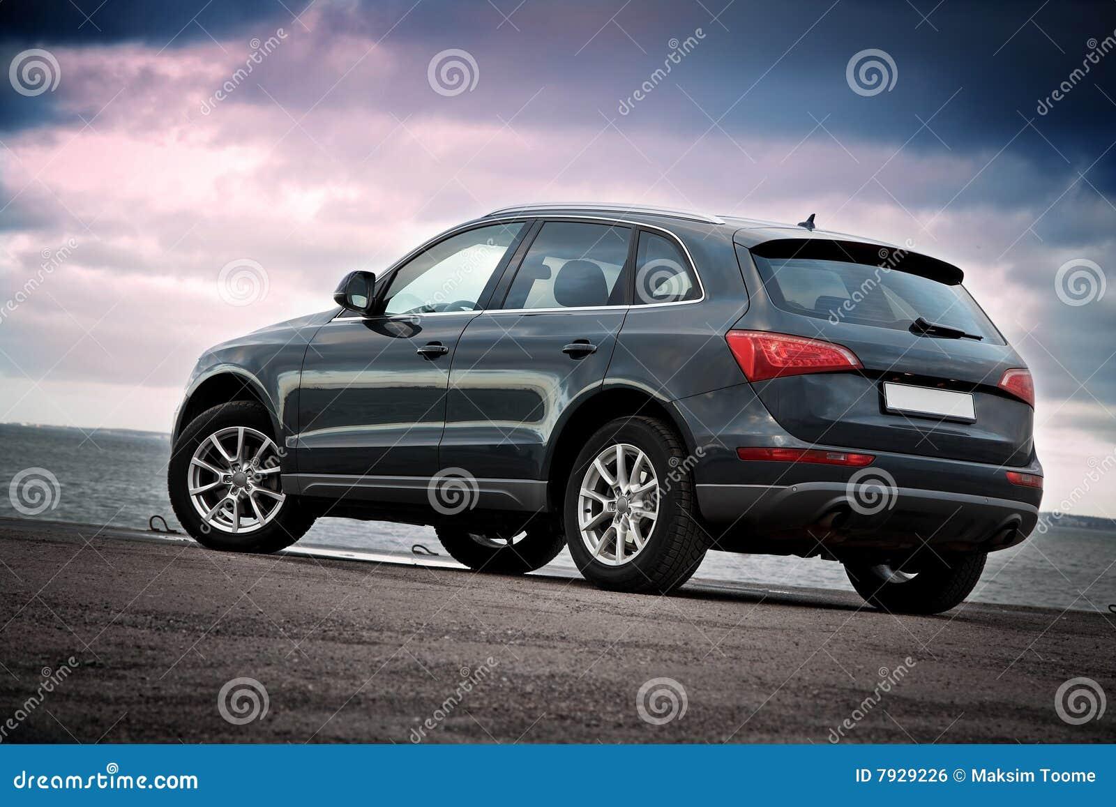 Luxury SUV rear view
