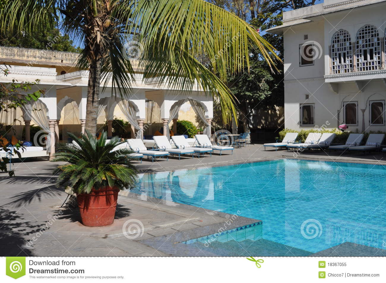 Luxury Swimming Pool In An Hotel In India Royalty Free Stock Photo Image 18367055