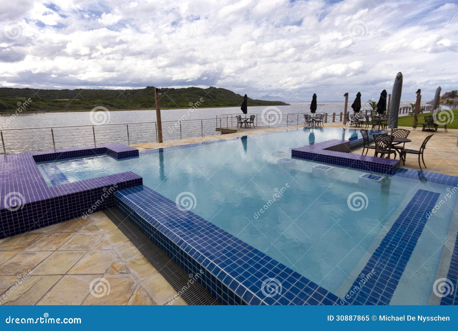 Luxury Swimming Pool Beside Lagoon Royalty Free Stock Photo Image 30887865