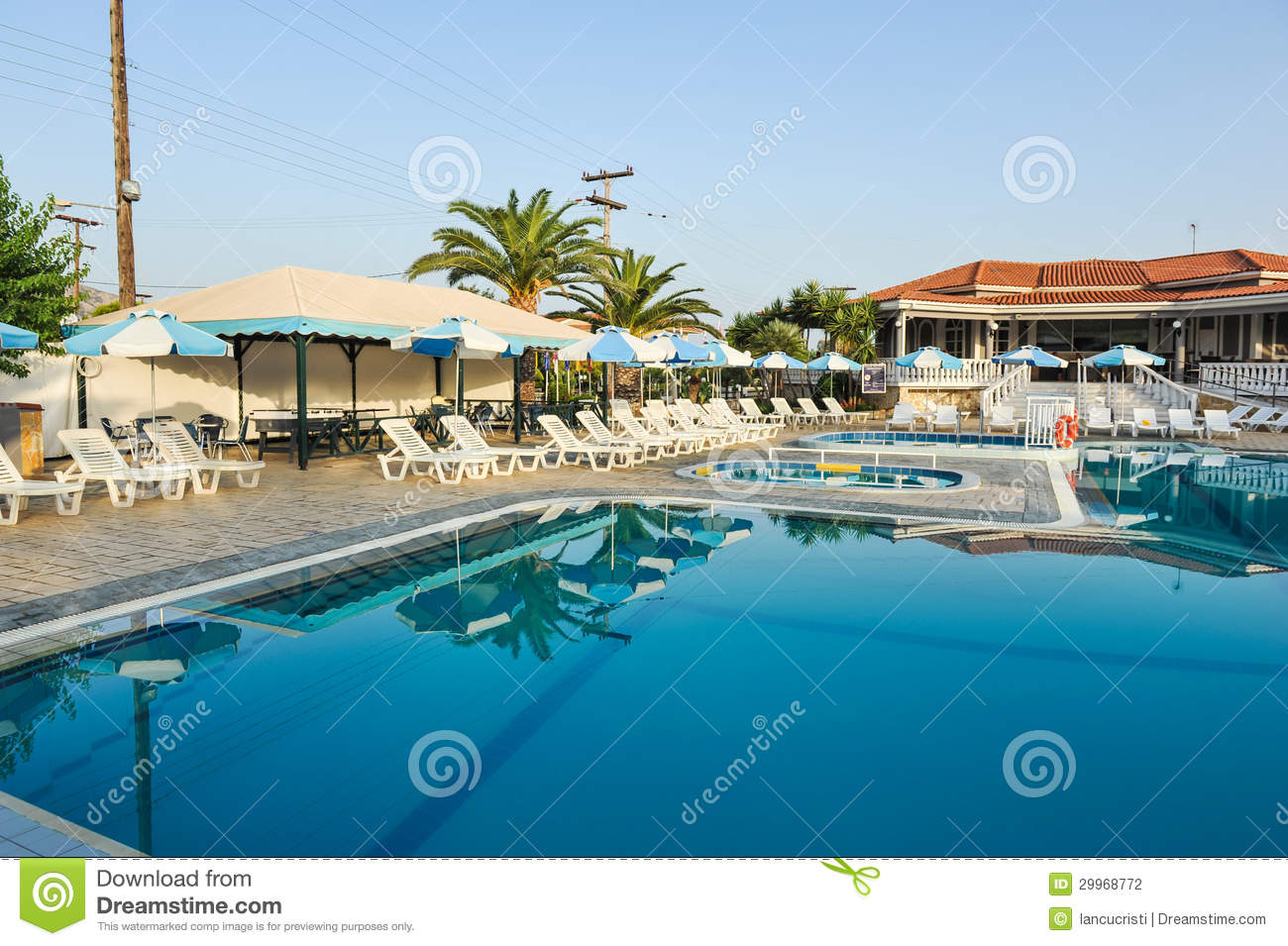 Luxury Swimming Pool In The Tropical Hotel In Greece Stock Photo Image 29968772