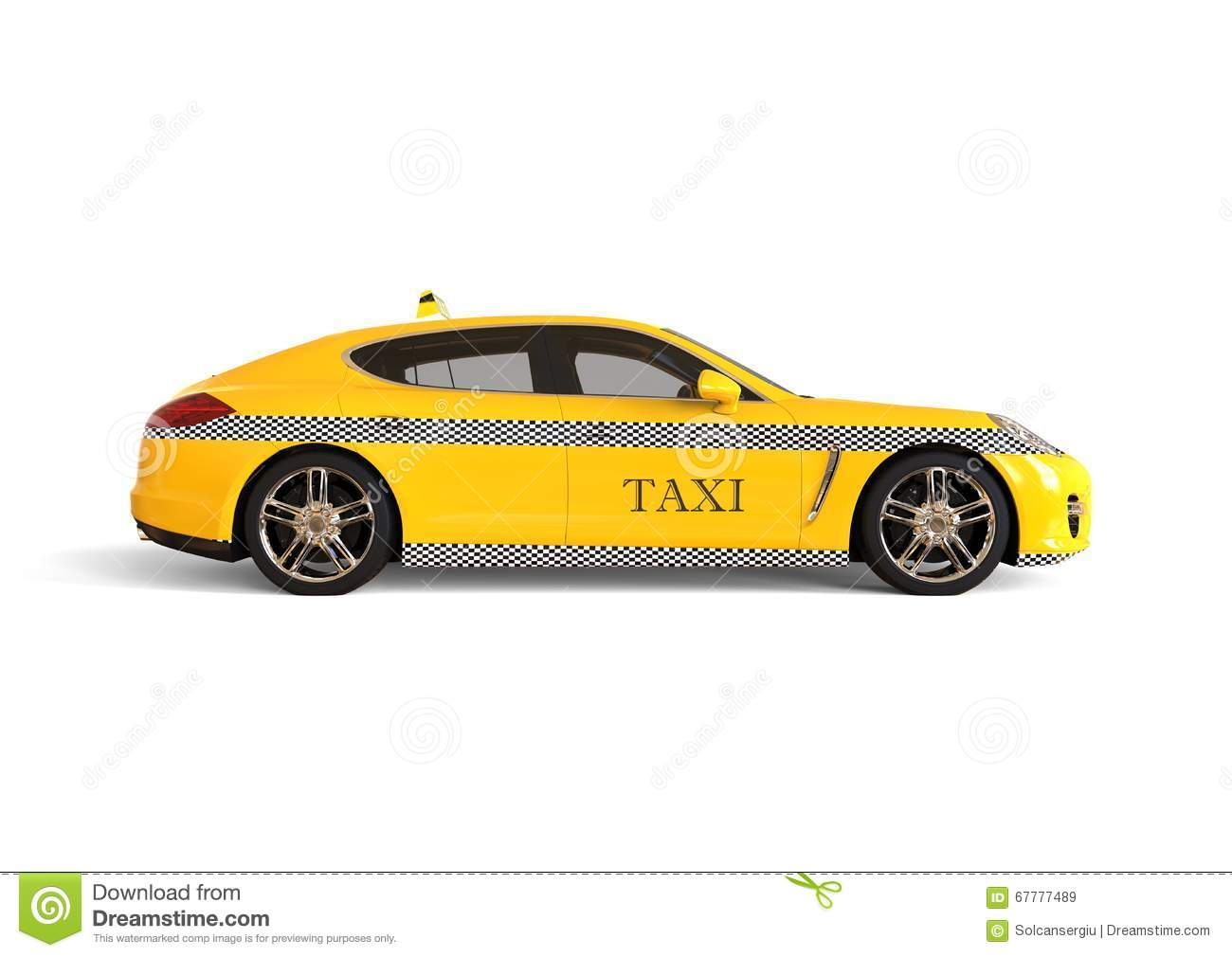 Luxury Taxi Cab Concept Stock Illustration Illustration Of