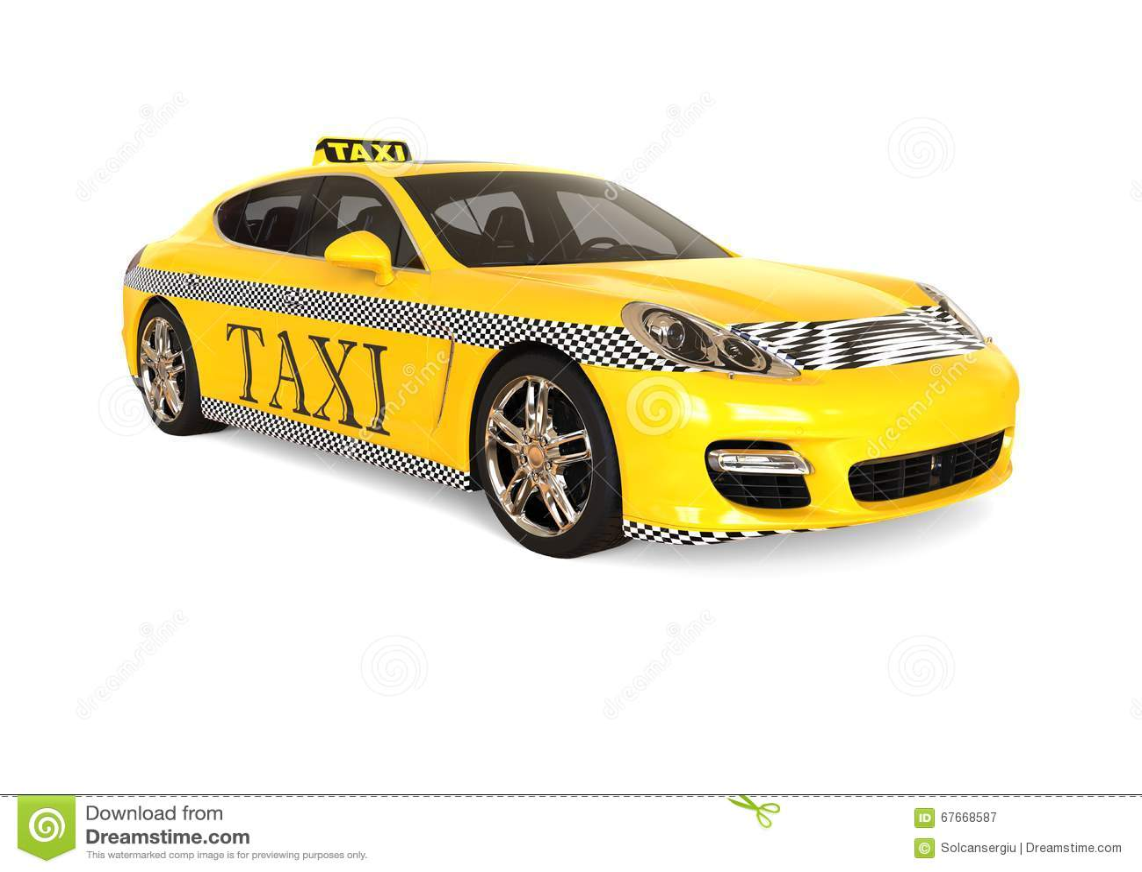 Luxury Taxi Concept Stock Illustration Illustration Of Passenger