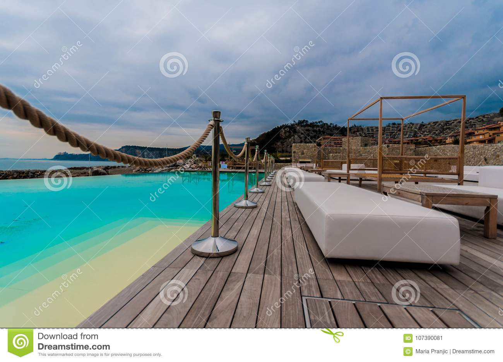 Luxury terace on beach
