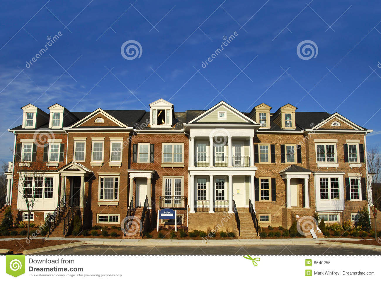 Luxury Townhomes Royalty Free Stock Photo Image 6640255