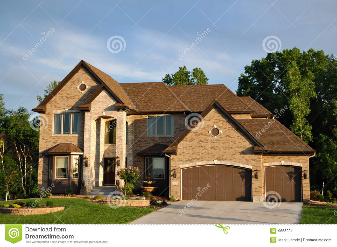 Luxury Two Story Suburban Executive Home Stock Image Image 9665881