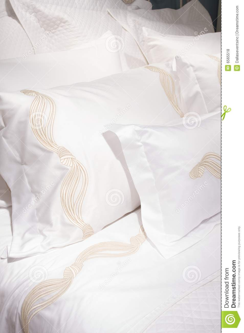 Luxury Upscale Bedding And Linens Royalty Free Stock