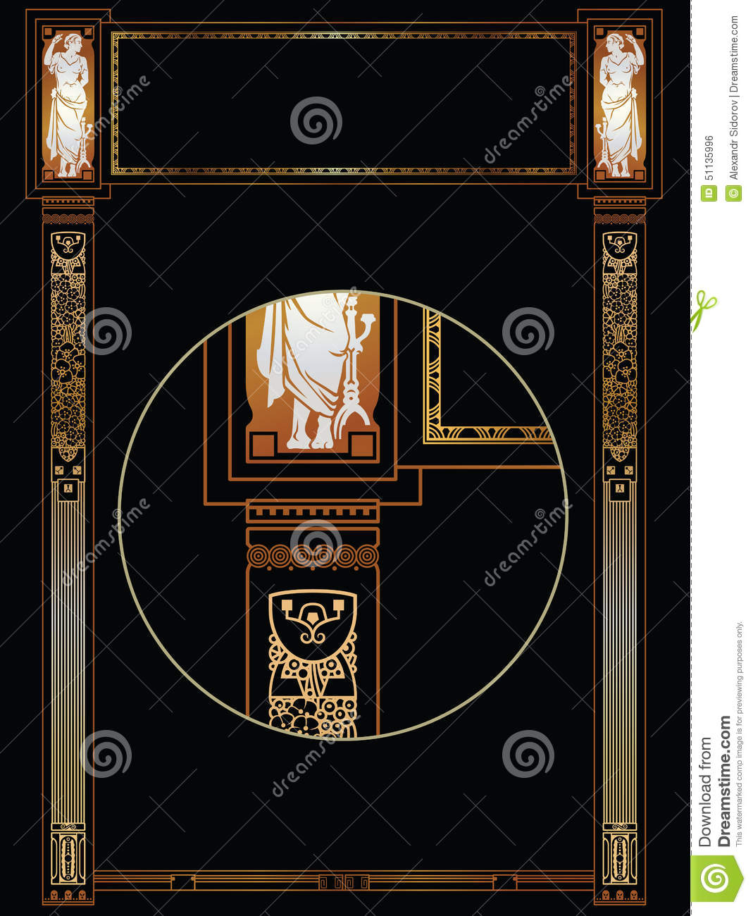 Luxury Vector Frame With Border In Greek Style Stock ...