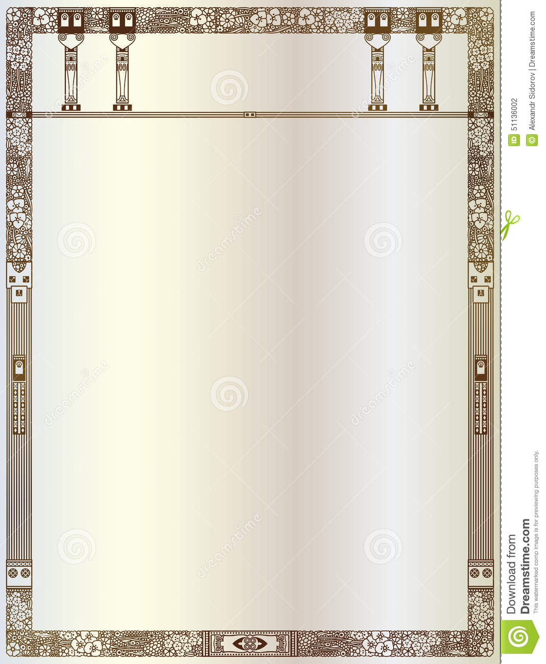 luxury vector frame with border in greek style stock
