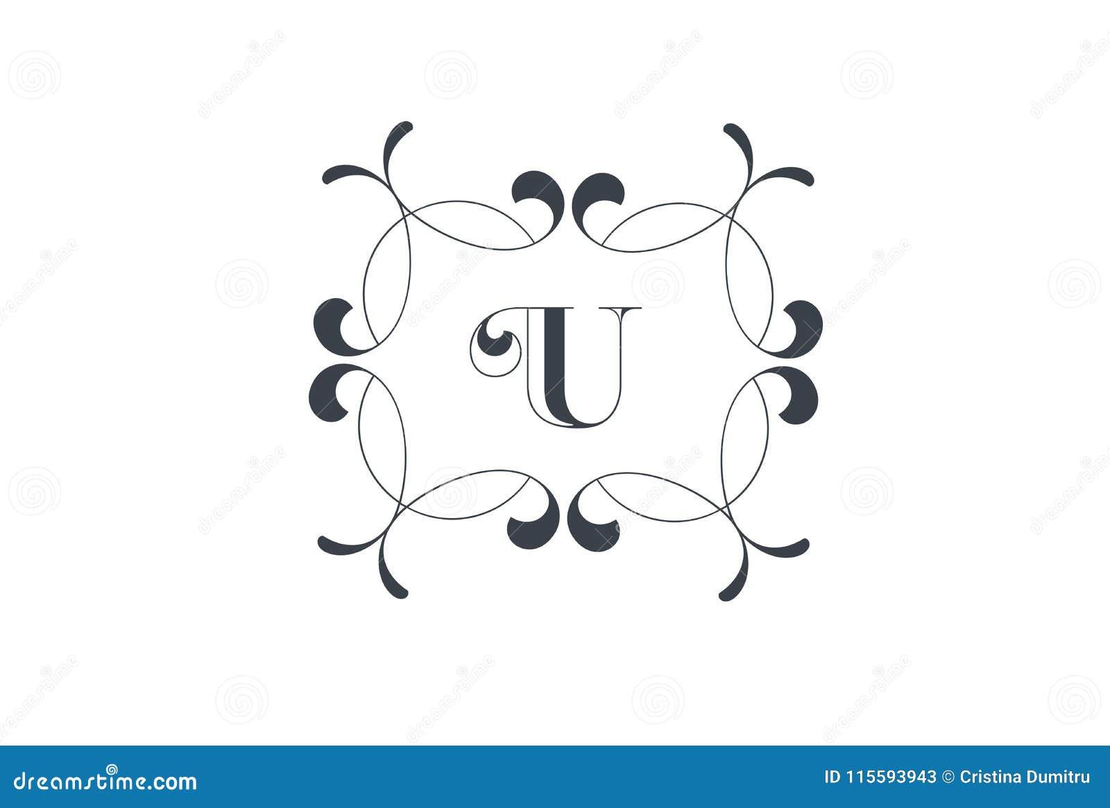 Luxury Vector Letter U Logo Design Stock Vector Illustration Of