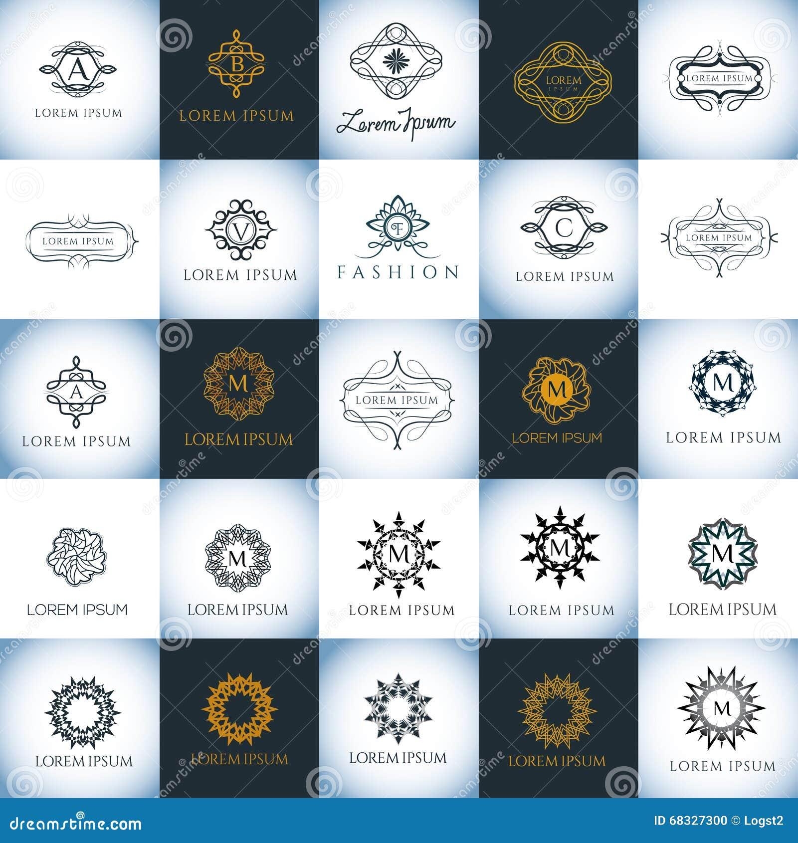 Luxury Vector Logo Template Set Branding For Restaurant