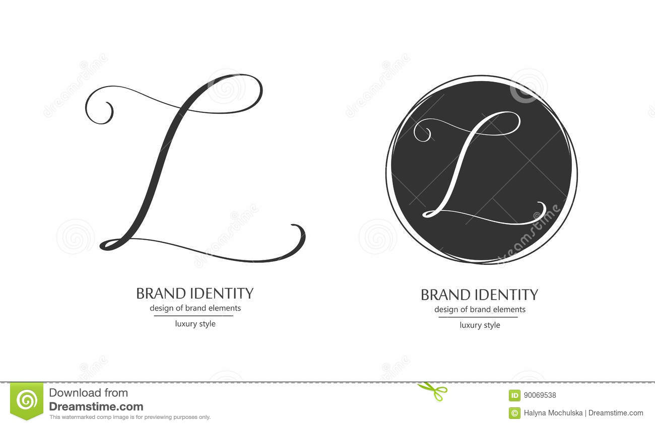 luxury vector logo template sophisticated brand design calligraphic letter l as a monogram
