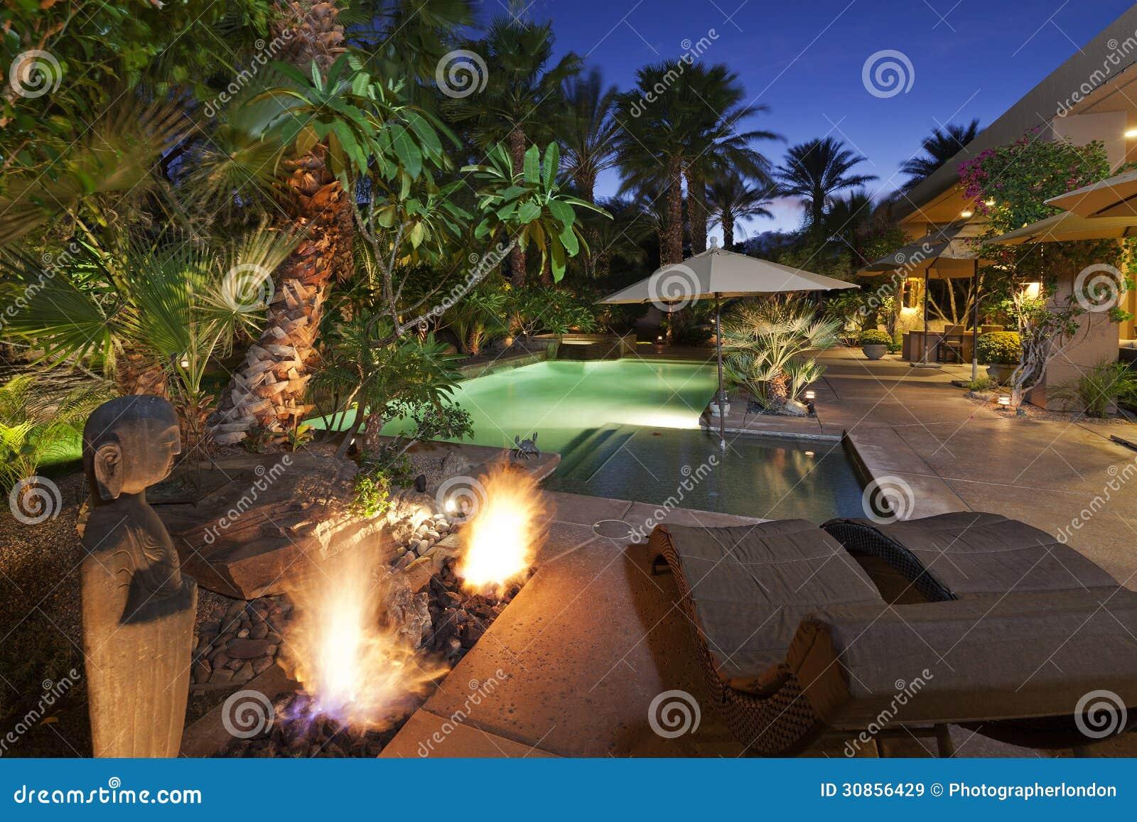 Luxury Villa at night time
