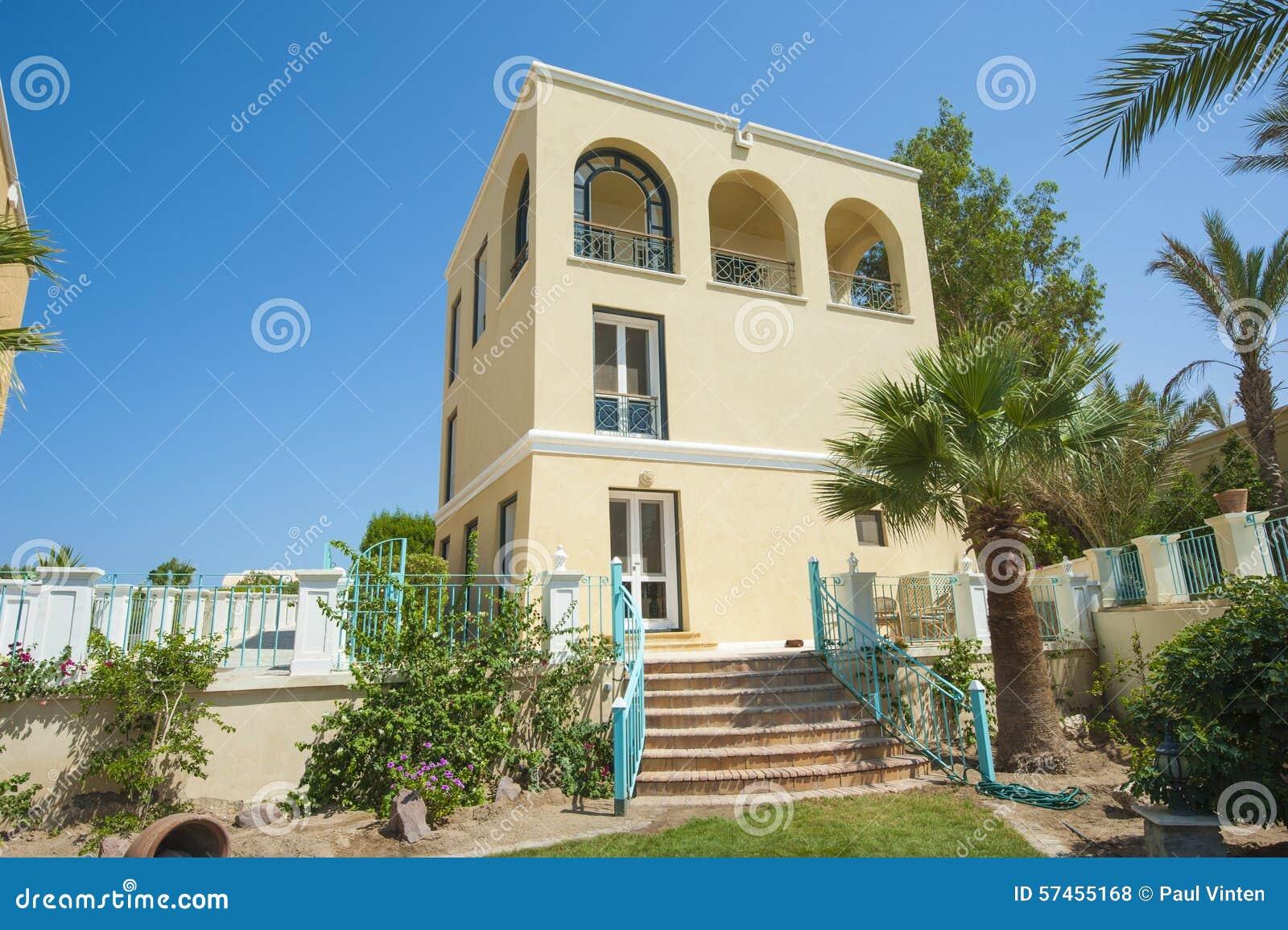 Luxury villa in a tropical resort