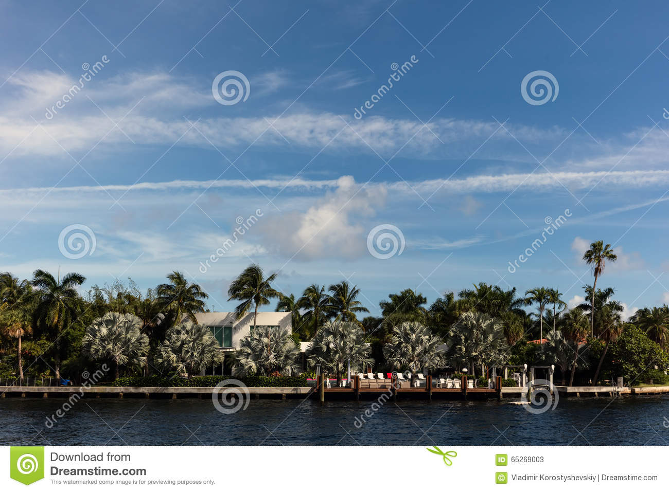 Waterfront Villas In Florida Stock Photography