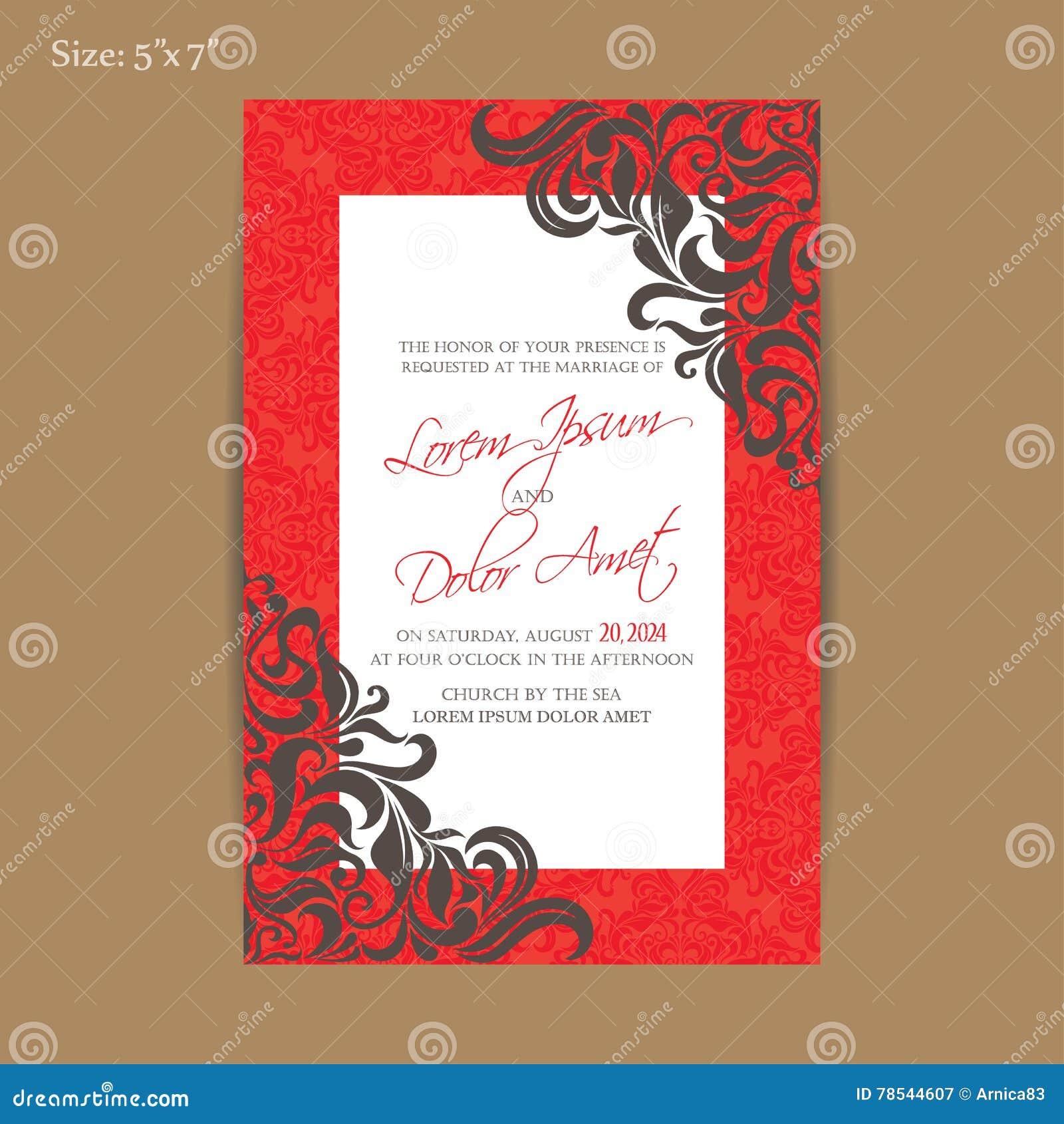 Luxury Vintage Wedding Invitation Card Stock Vector - Illustration ...