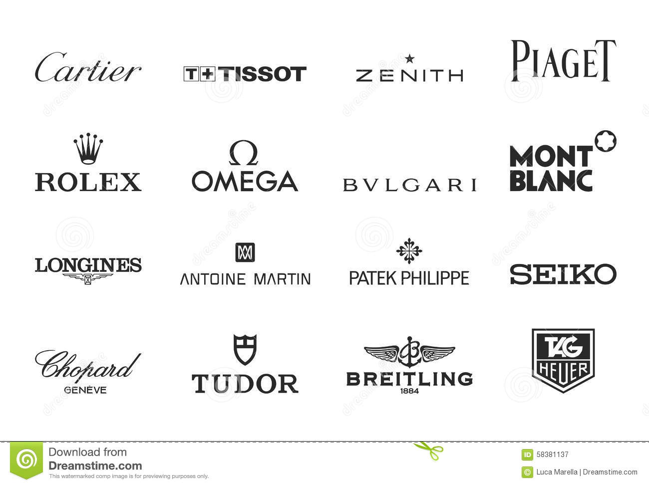 Famous luxury brands