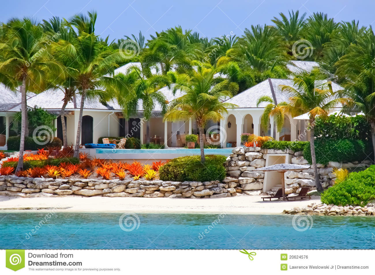 Luxury Waterfront Home With Pool On Antigua Royalty Free Stock Photo 20624553