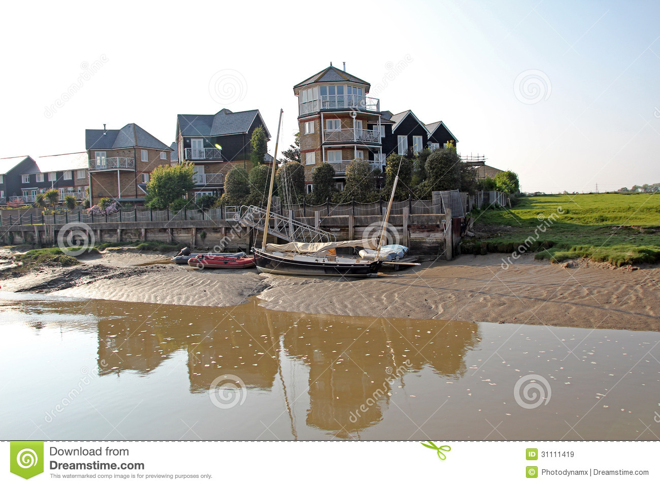Luxury Waterside Apartments Editorial Stock Image - Image of