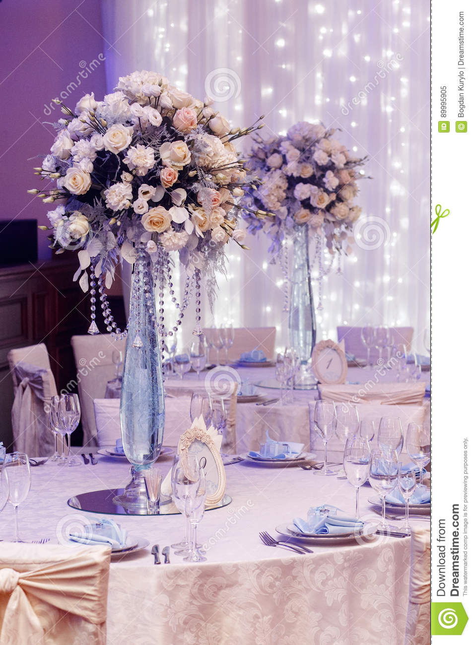 Luxury wedding decor with flowers and glass vases and number of stock photo image 89995905 - Fabulous flower stand ideas to display your plants look more beautiful ...