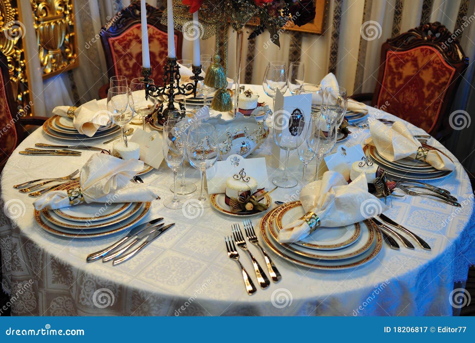 Luxury Wedding Dinner Reception Table Royalty Free Stock