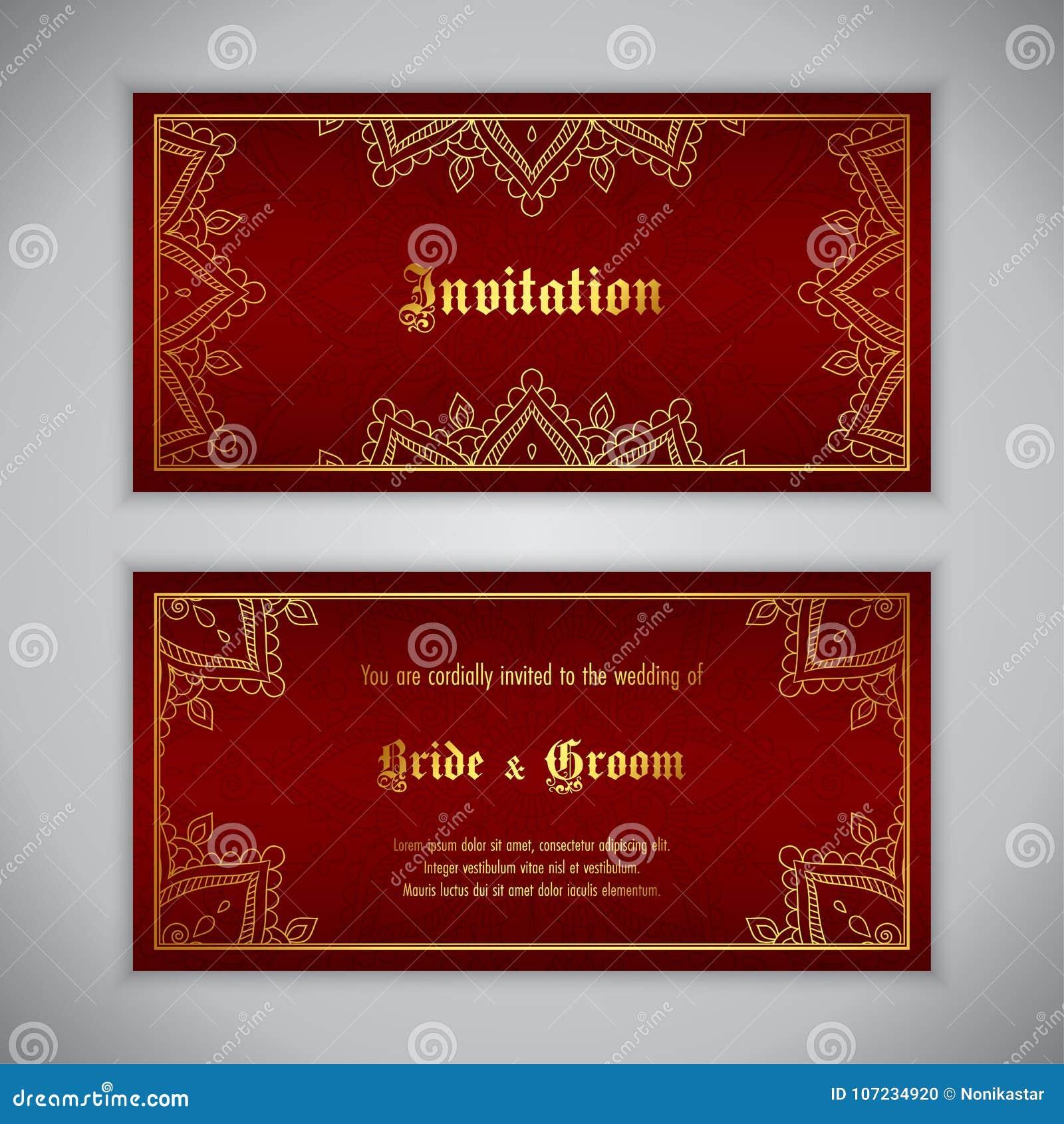 Luxury wedding invitation stock vector. Illustration of event ...