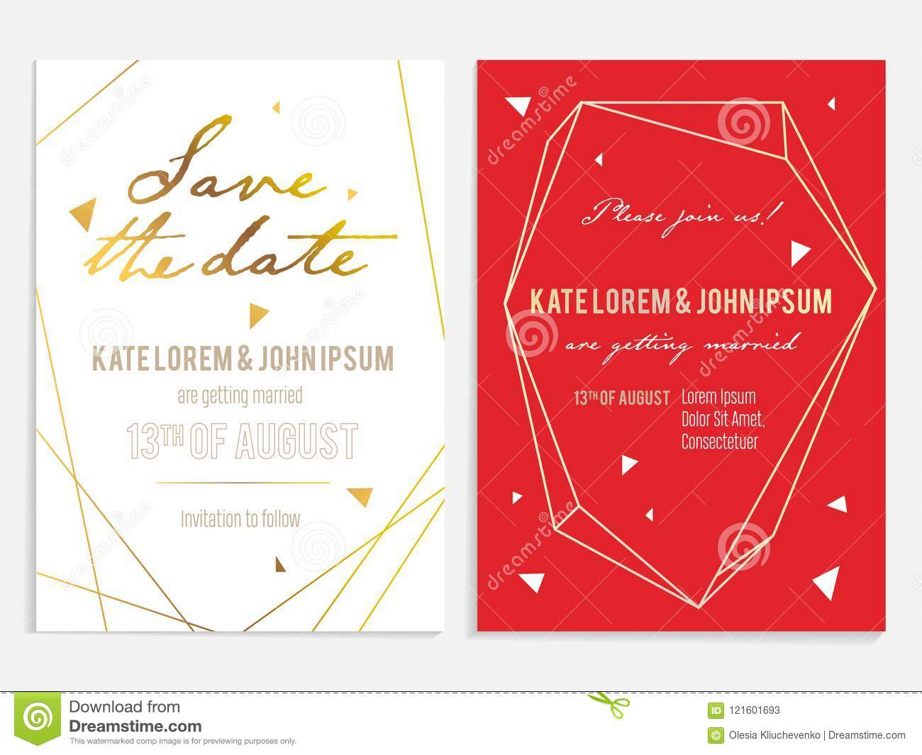 Luxury Wedding Invitation And Save The Date Card. Stock Vector ...