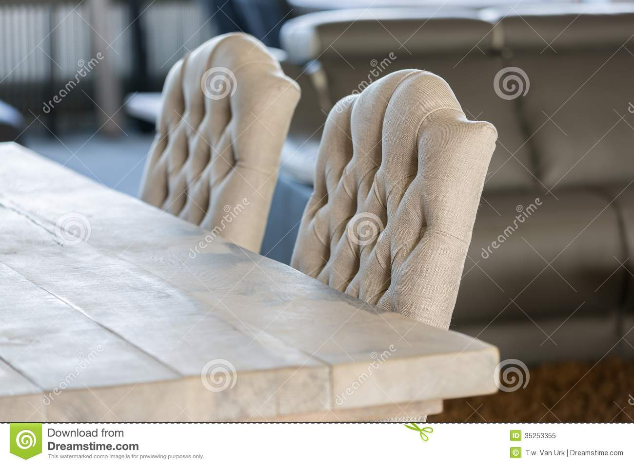 Luxury White Chairs And Wooden Table With Royalty Free Stock Photo Image 35253355