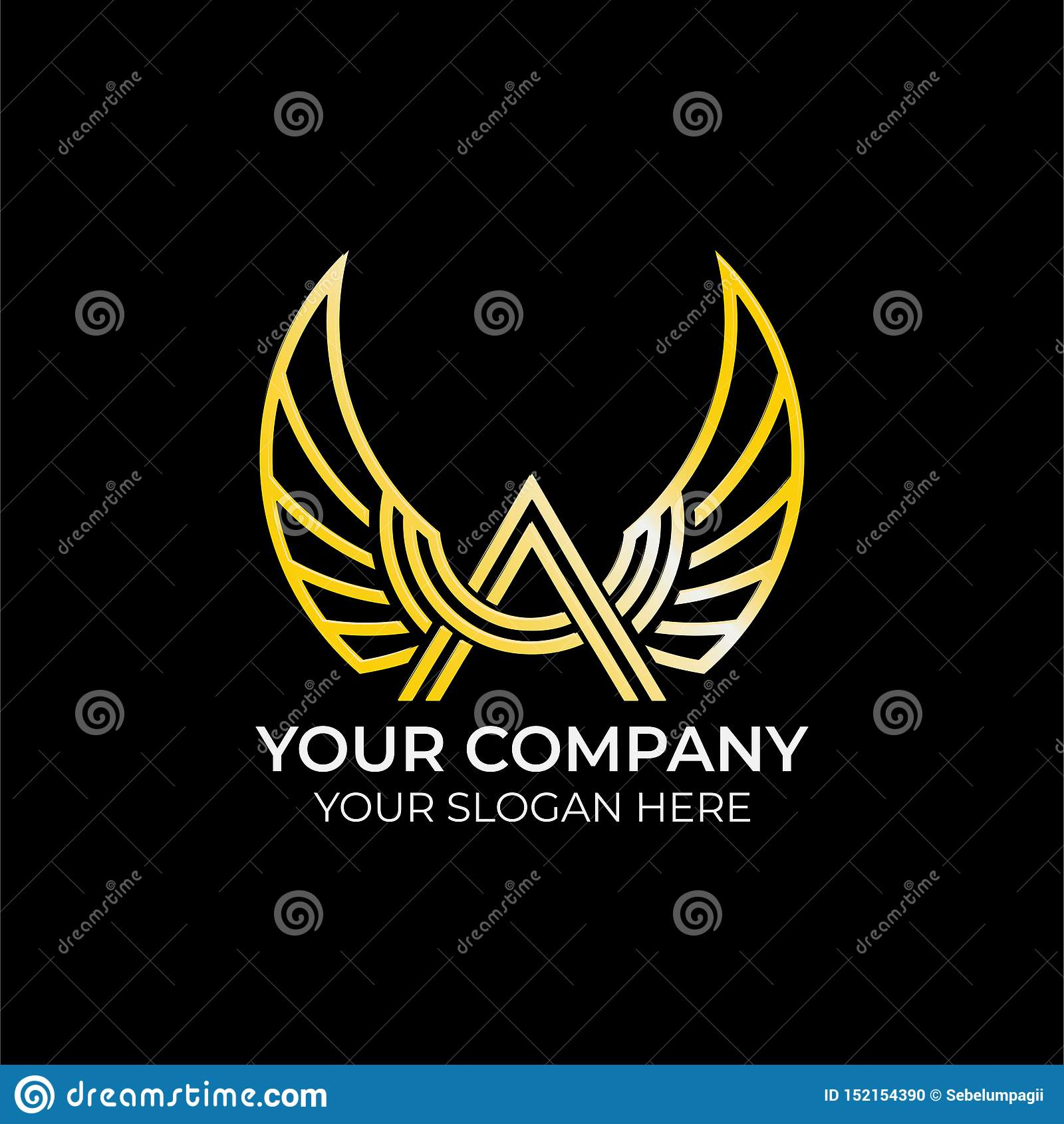 Luxury wing logo design