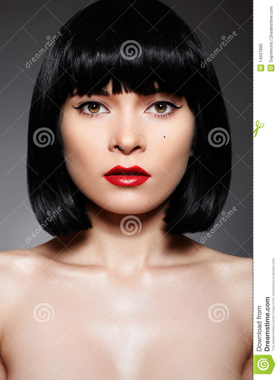 Luxury Woman With Fashion Make Up Bob Hairstyle Stock Photo Image 14937890