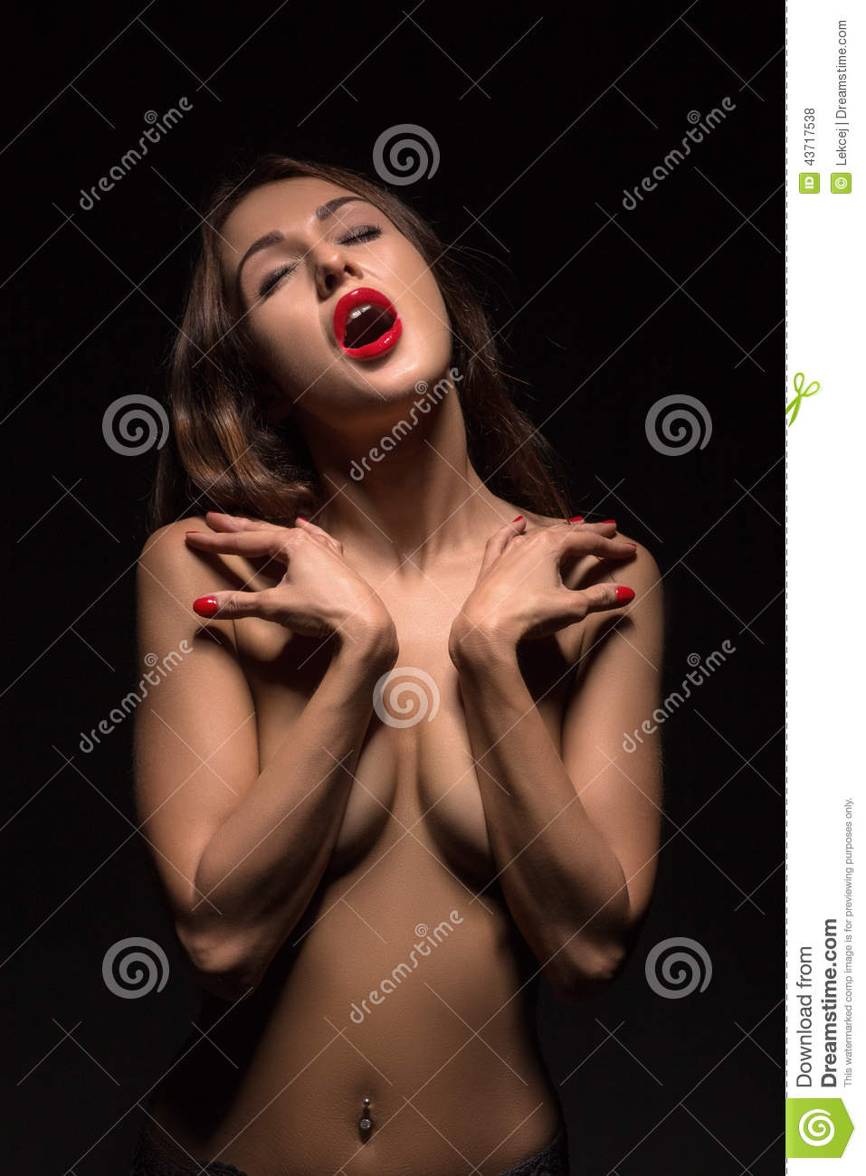 Luxury Woman Orgasm Stock Photo Image Of Lips, Flirting -6824