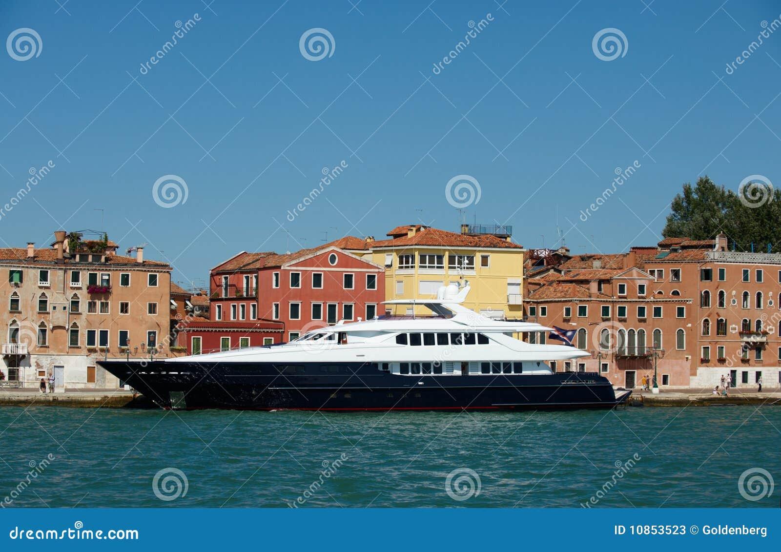 Luxury yacht in Europe