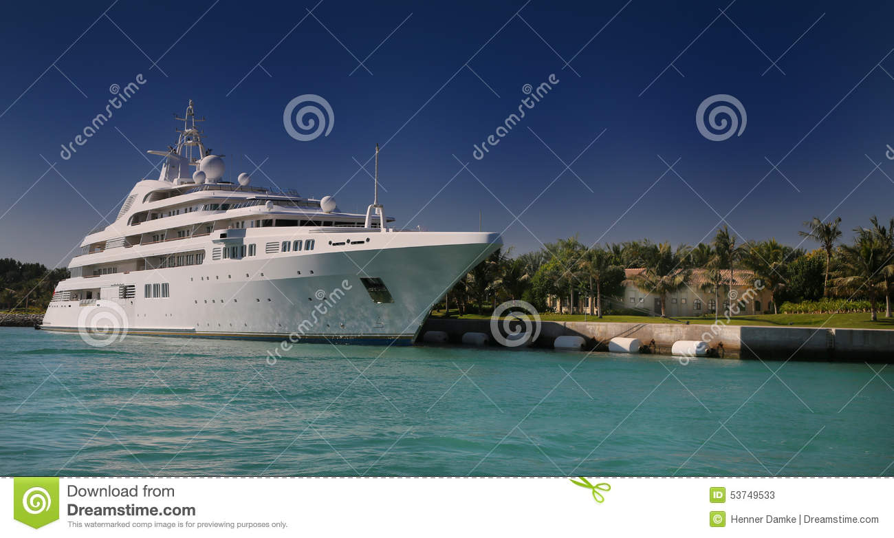 Tropical Island Yacht Luxury Yacht In Front Of Tropical Island Stock Photo Image 53749533