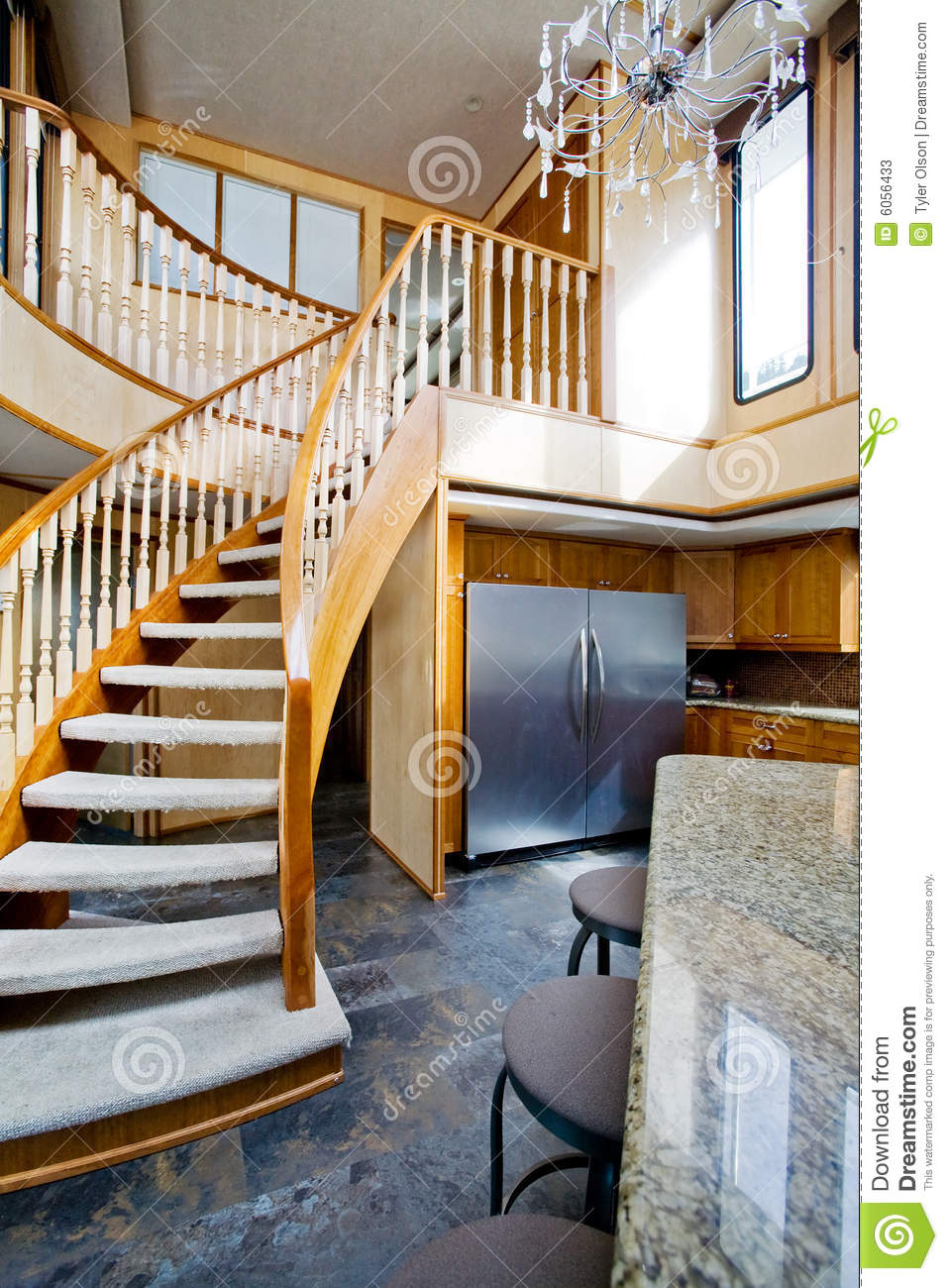 Luxury yacht interior stock image. Image of stair, staircase - 6056433