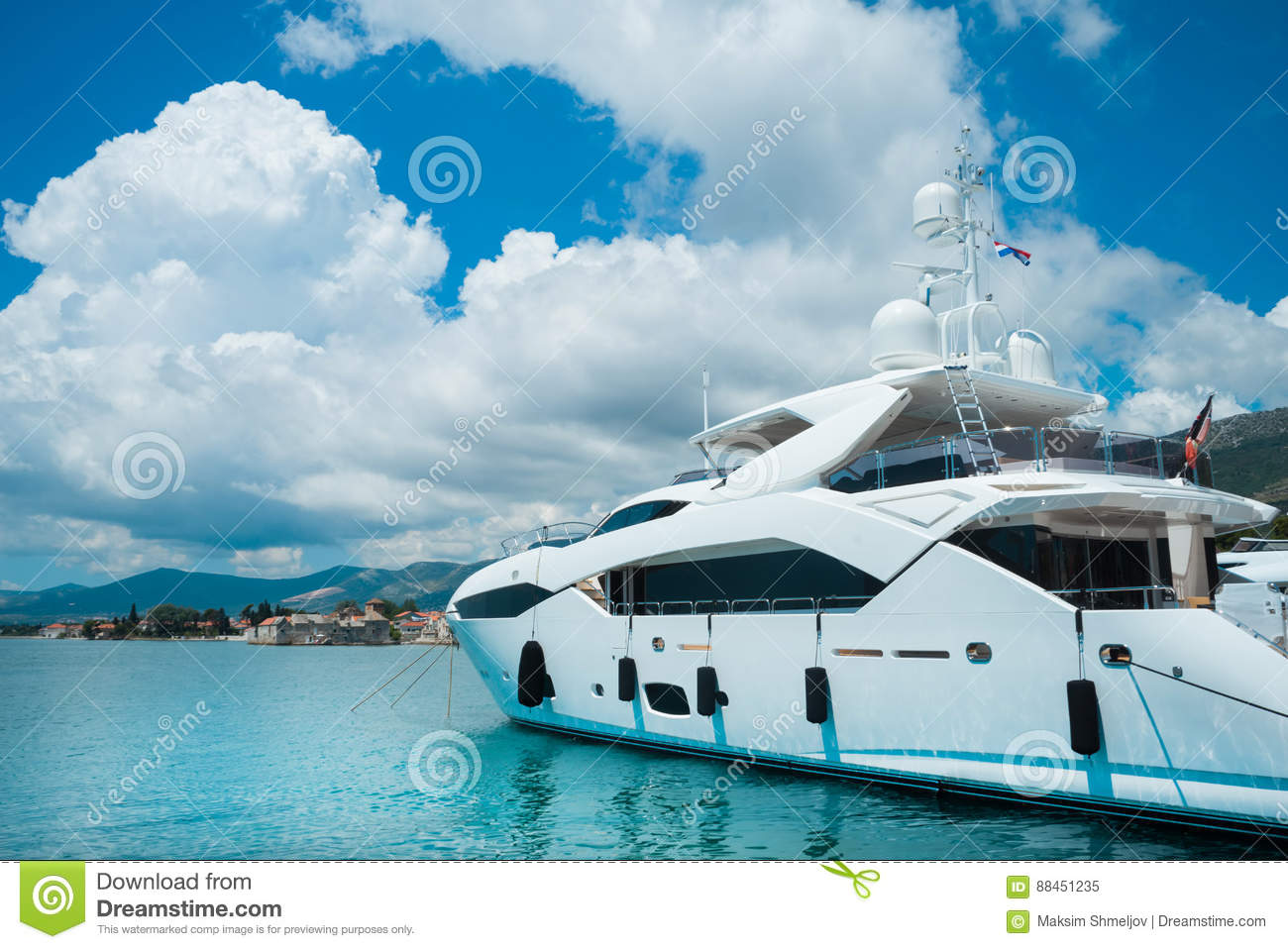 Luxury yachts in beautiful.