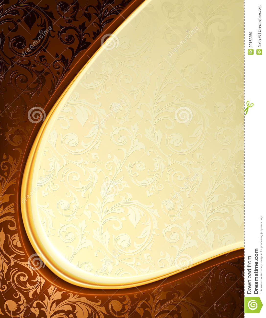 Luxury Yellow And Brown Background Stock Vector Image