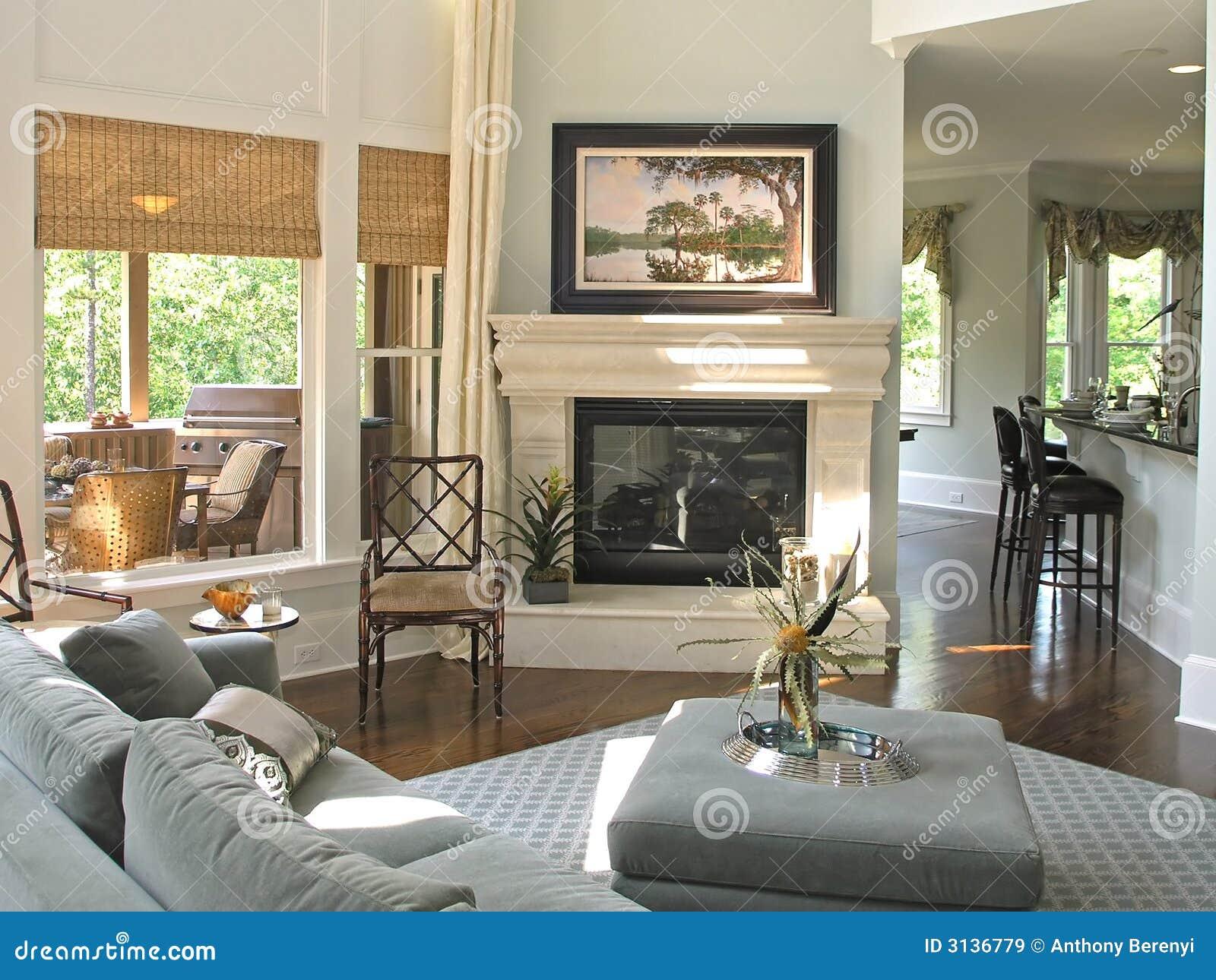 Luxus 7 - Wohnzimmer 1 Lizenzfreie Stockbilder - Bild: 3136779