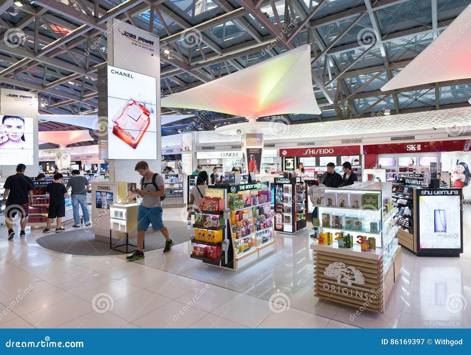 Luxusboutiquen der zollfreien Kosmetik in Suvarnabhumi-Flughafen, Ba