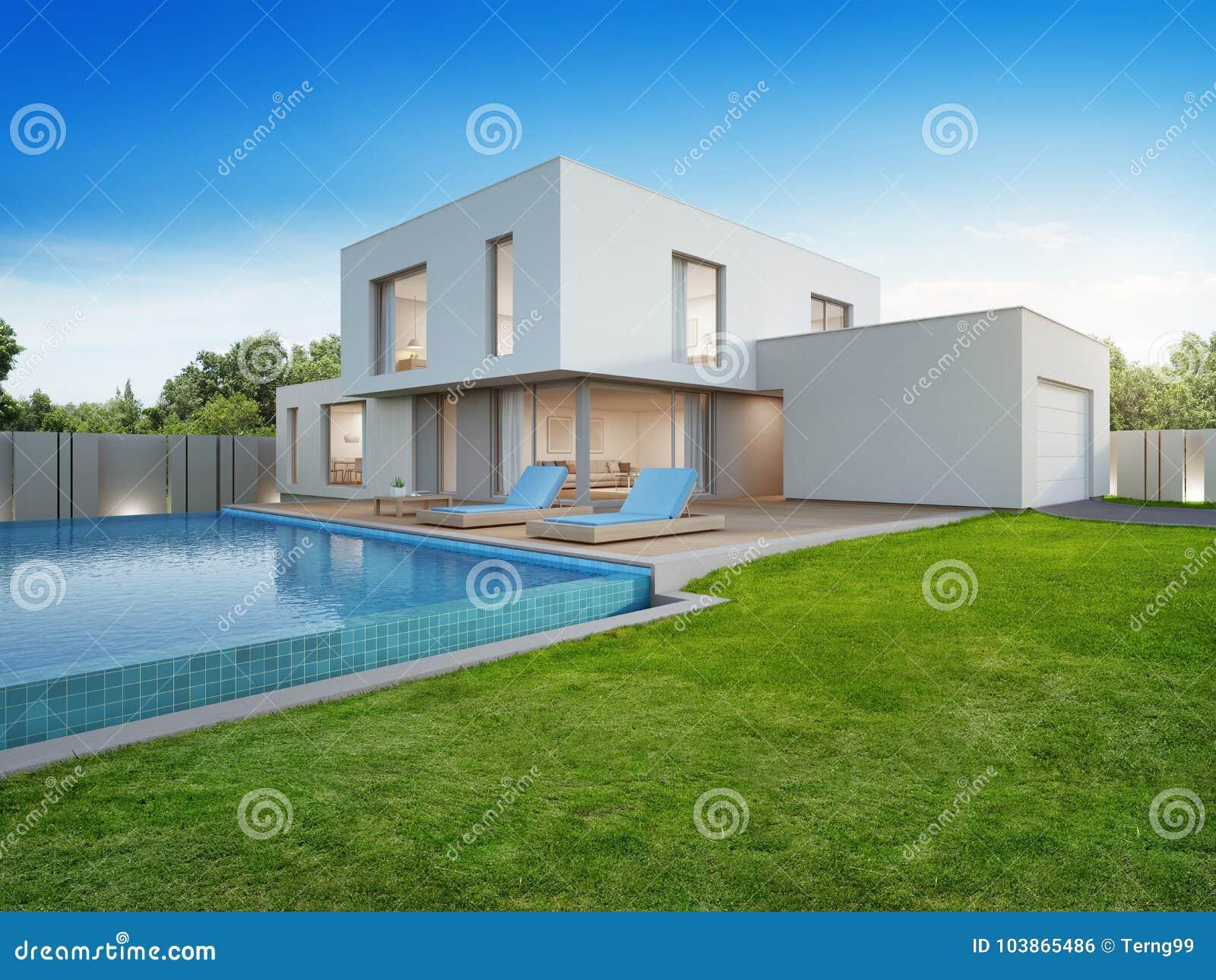 Luxushaus Mit Swimmingpool Und Terrasse Nahe Rasen Im ...