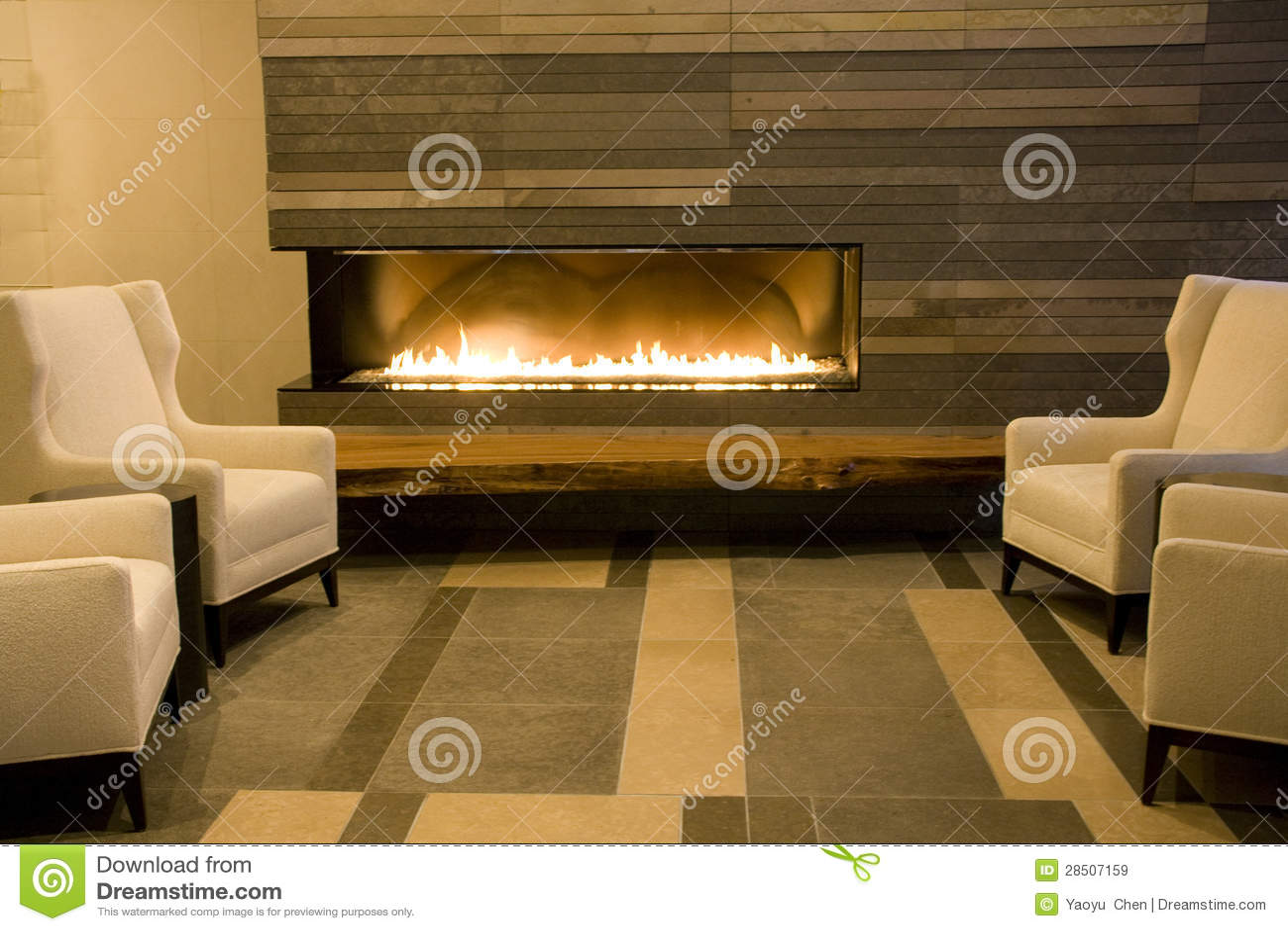 Luxuswohnzimmer Mit Kamin