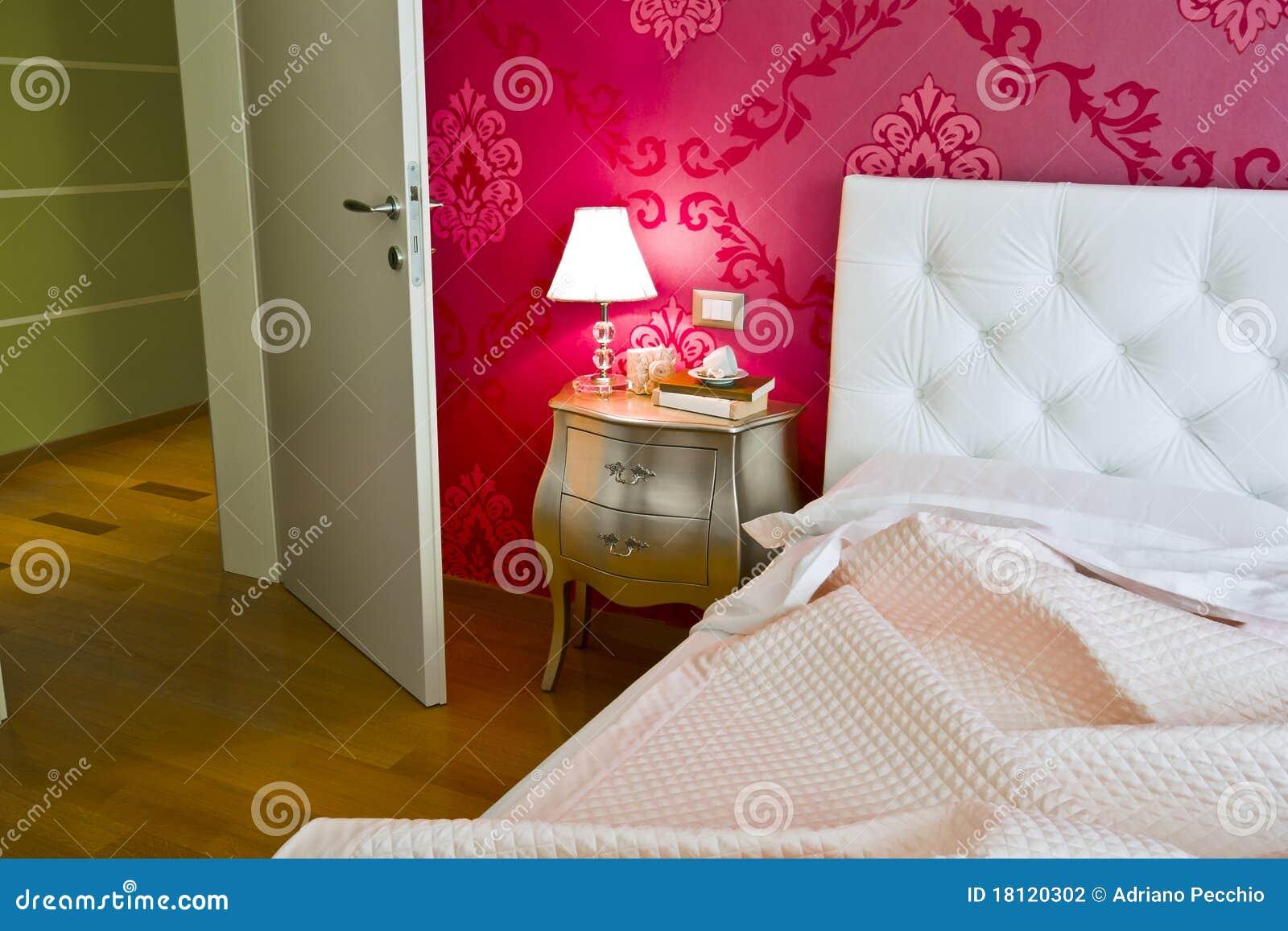 Download Luxux  Und Romantisches Schlafzimmer Stockfoto   Bild Von Tapete,  Dekor: 18120302