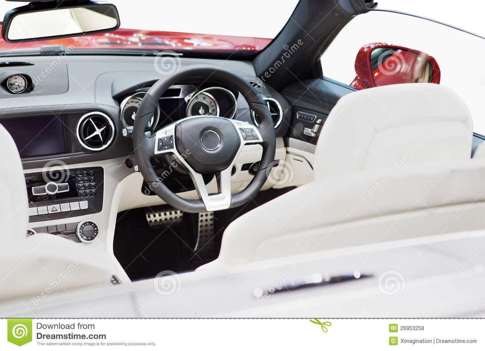 Luxuxautoinnenraum