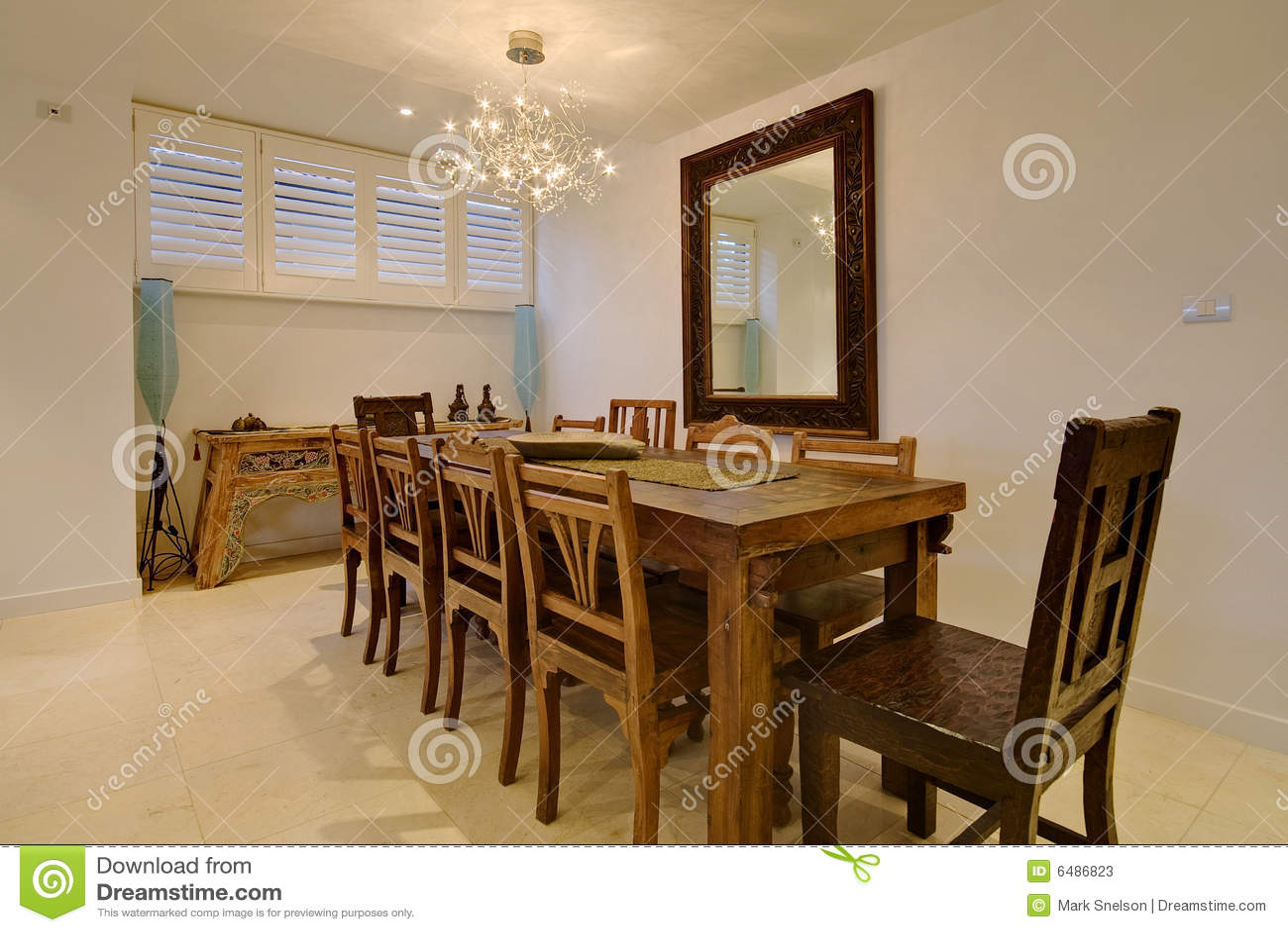 Luxuxesszimmer stockbild. Bild von auslegung, bereich - 6486823