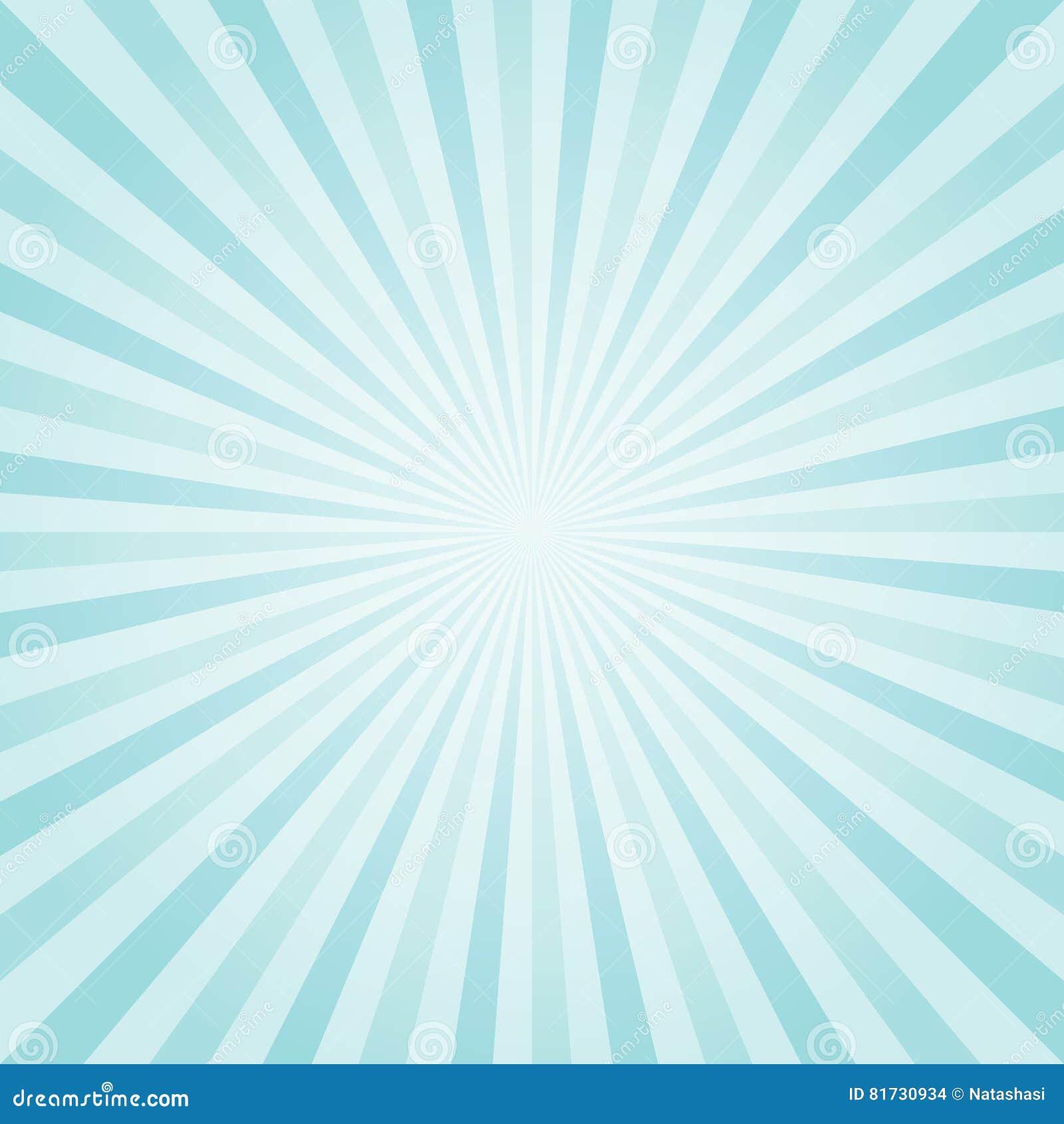 Luz abstrata - a turquesa azul irradia o fundo Vetor