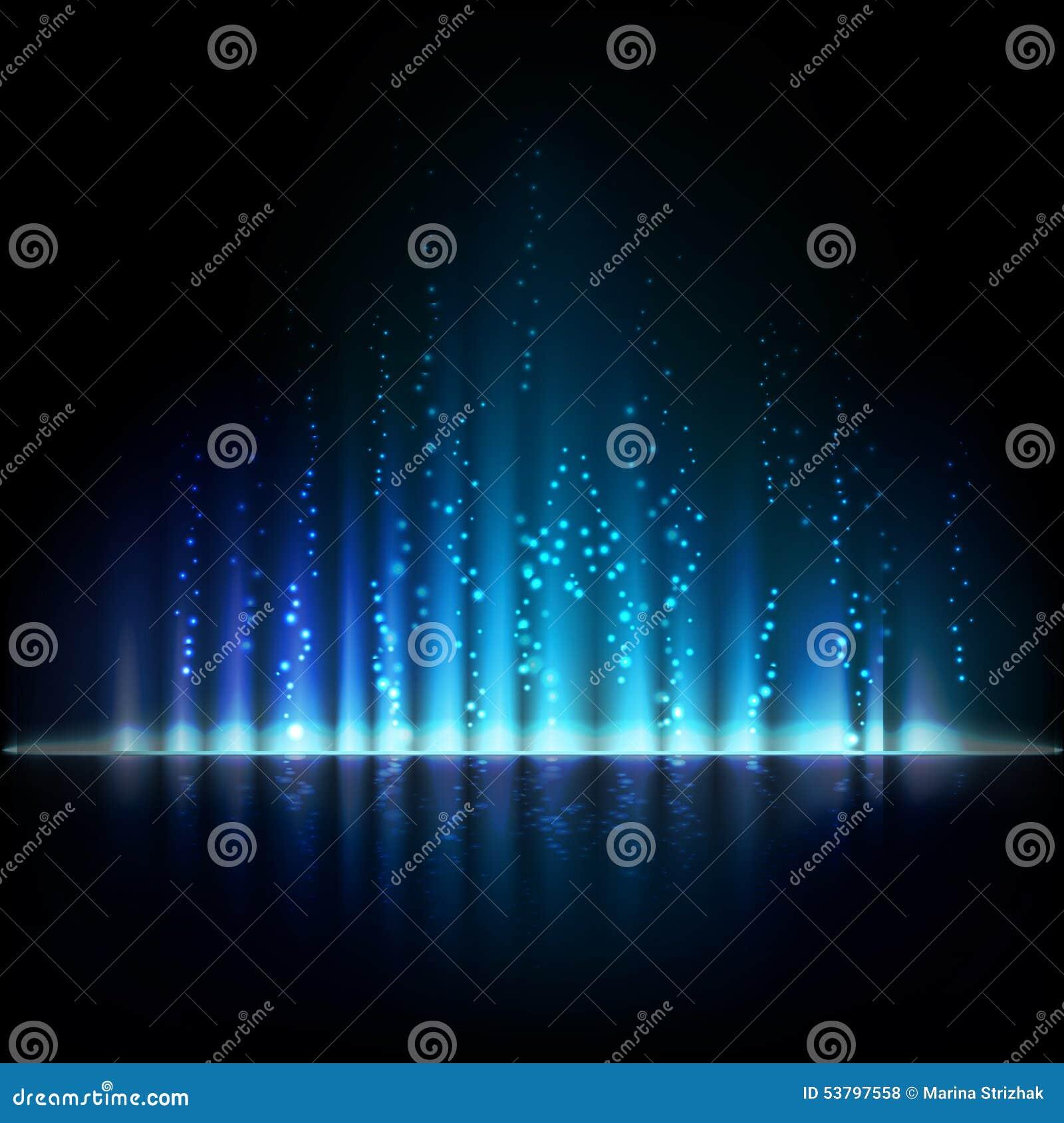 Luz azul da Aurora Fundos abstratos do vetor