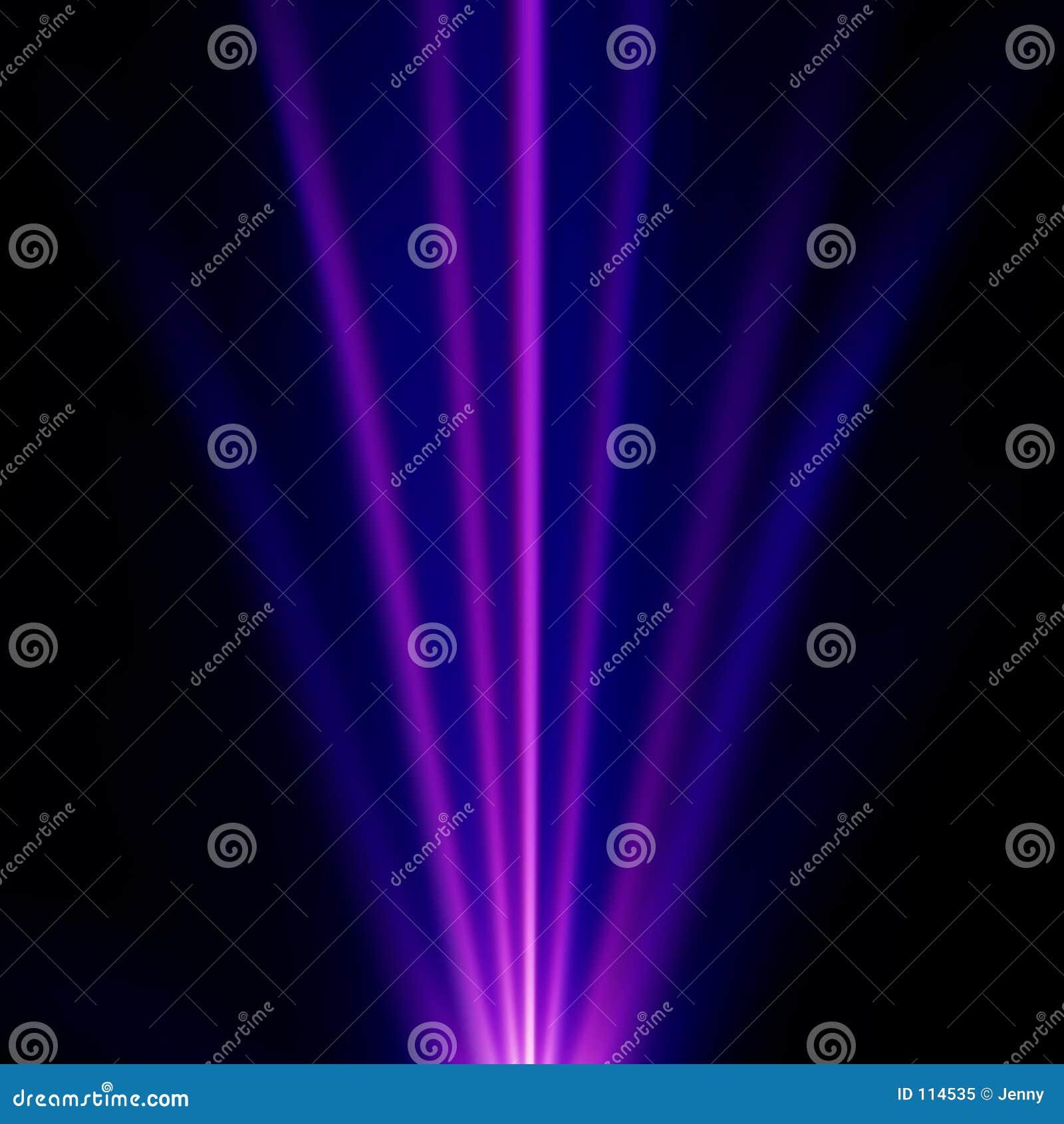Luz azul e roxa