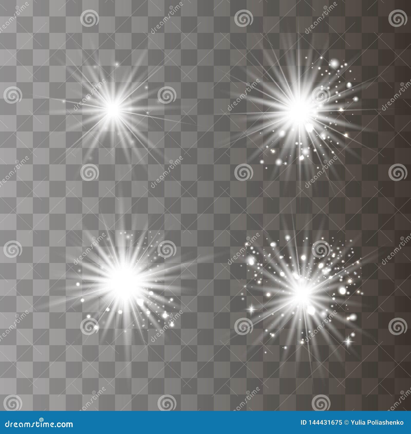 Luz blanca con polvo