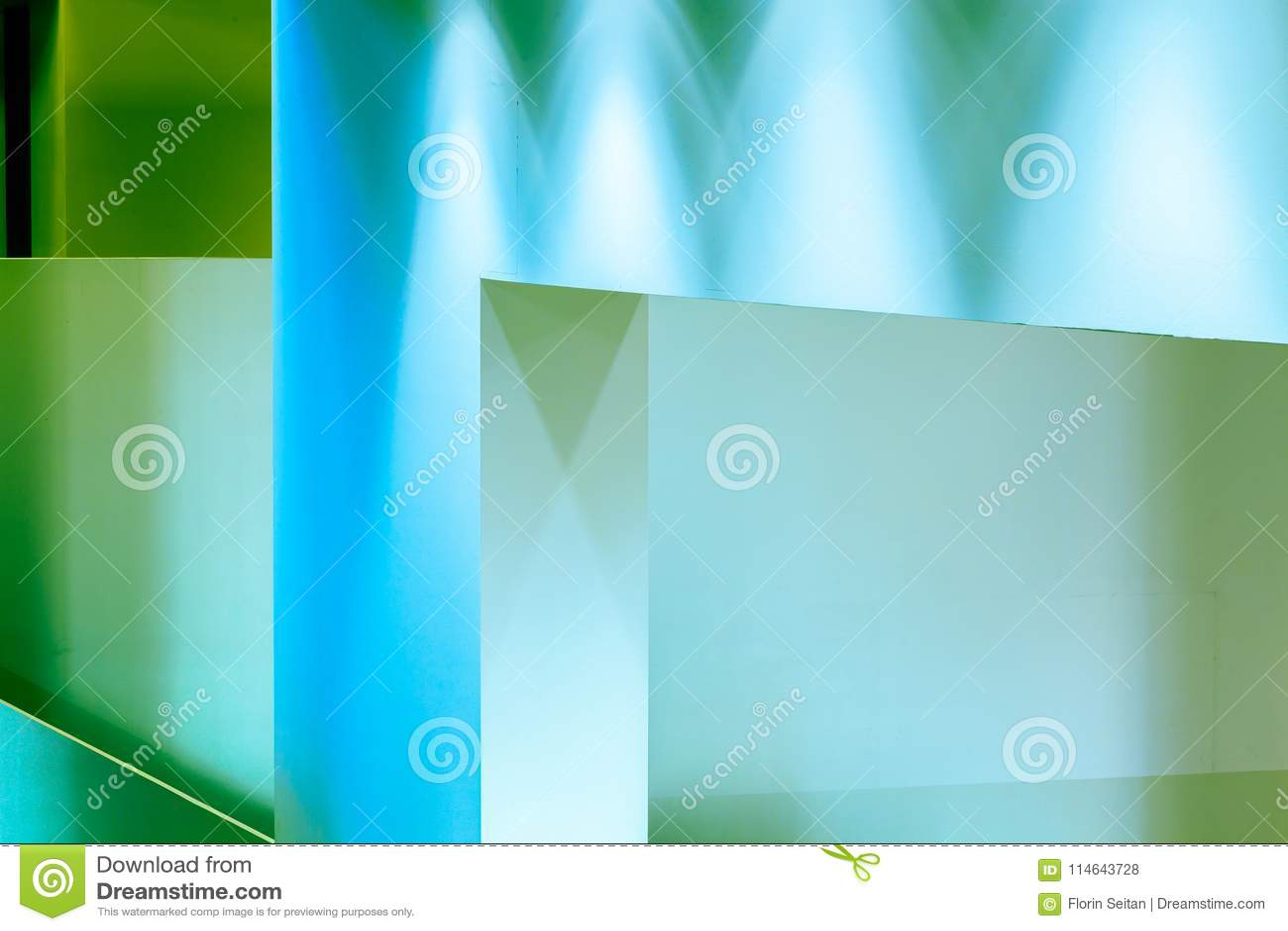 Luz Blanca Interior De Las Paredes Pintada En Fondo Geometrico Azul - Paredes-pintadas-de-azul
